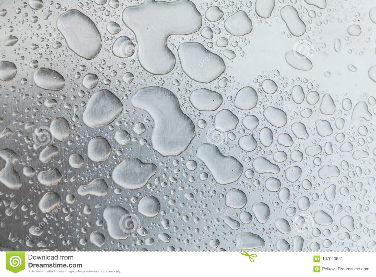Metal Surface Covered In Water Drops Stock Image Image Of