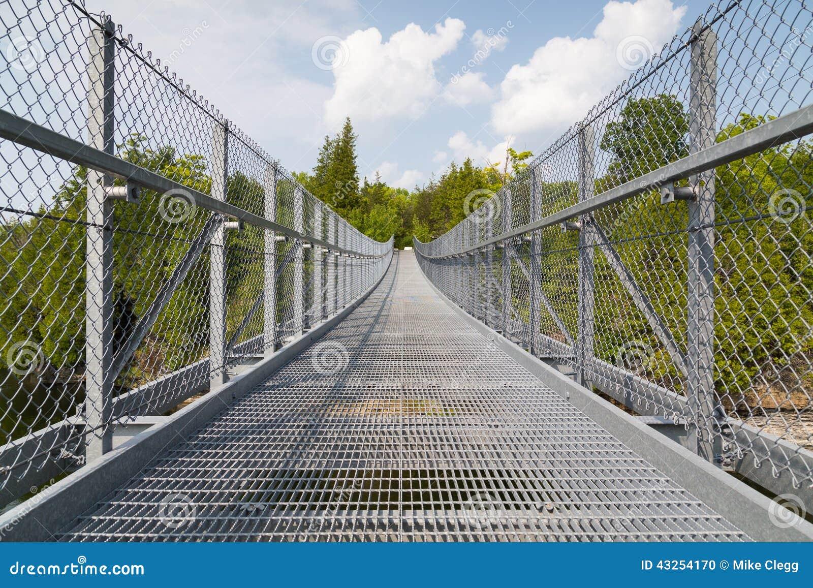 metal suspension bridge stock photo image 43254170. Black Bedroom Furniture Sets. Home Design Ideas