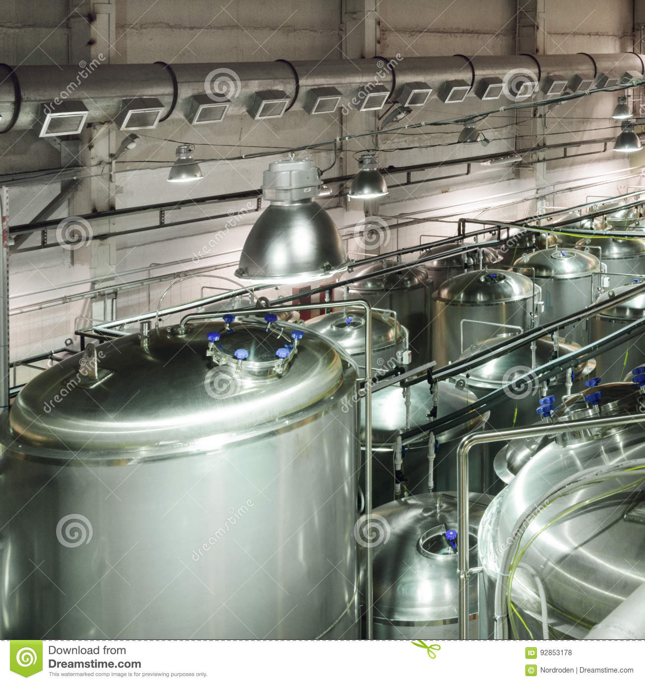 697ec77035488 Metal Tanks For Storage And Processing Of Food Liquids. Stock Photo ...