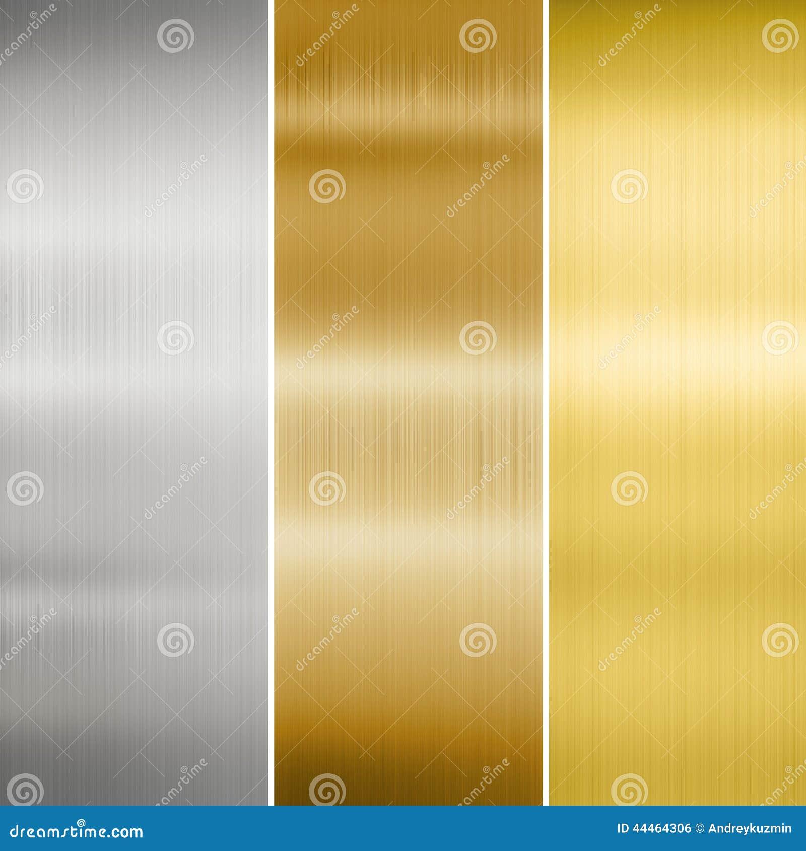 Metal tekstury złoto, srebro i brąz,