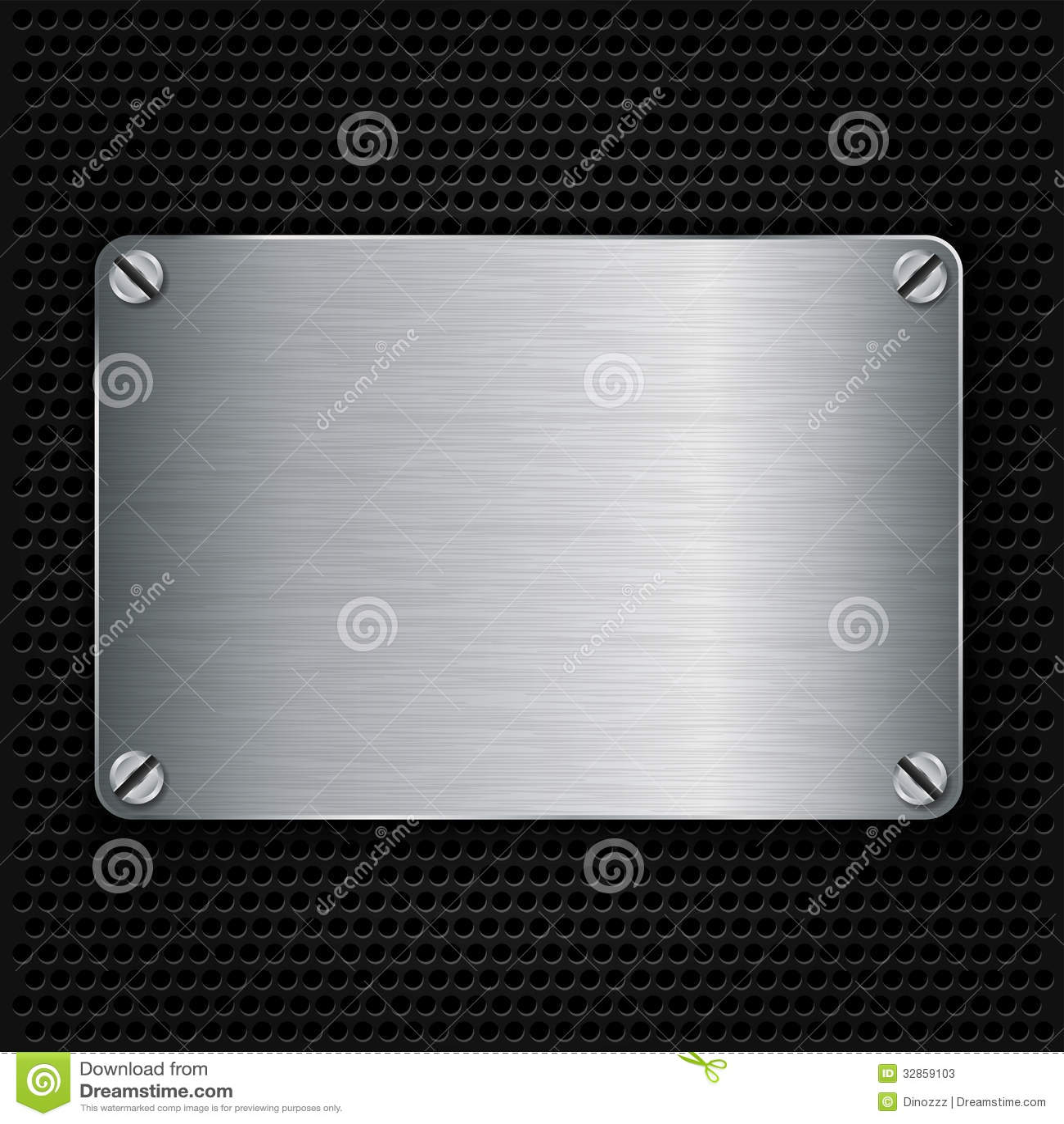 Metal Texture Plate With Screws Stock Photos Image 32859103
