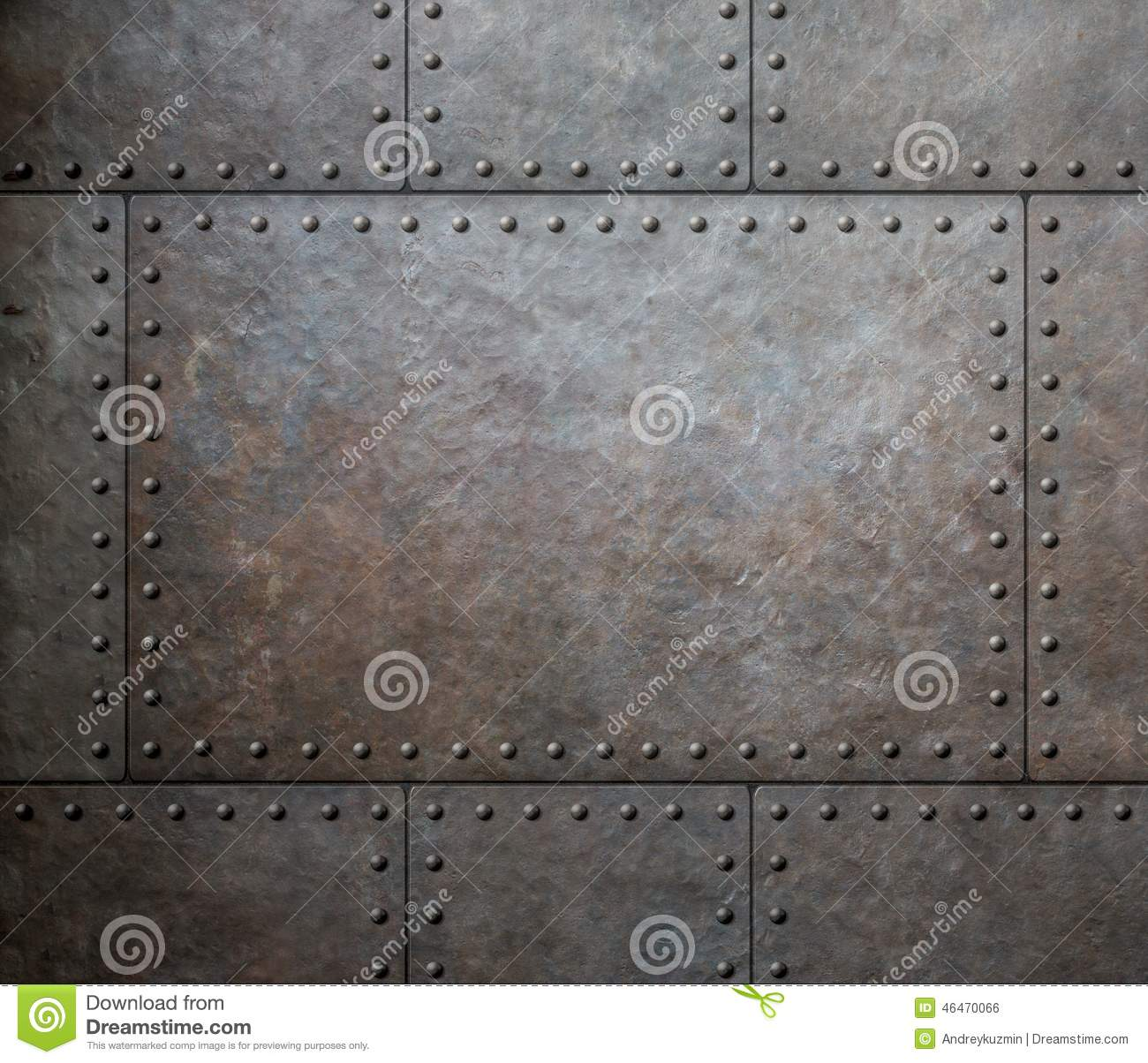 Metal Texture With Rivets As Steam Punk Background Stock Photo - Image ...