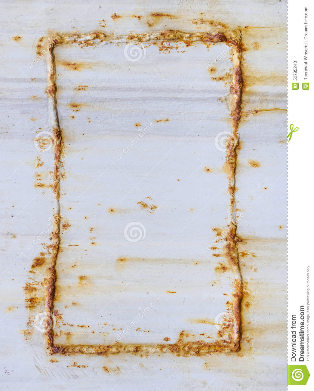 Metal Texture With Rusty Frame Stock Image - Image of rusty, corner ...