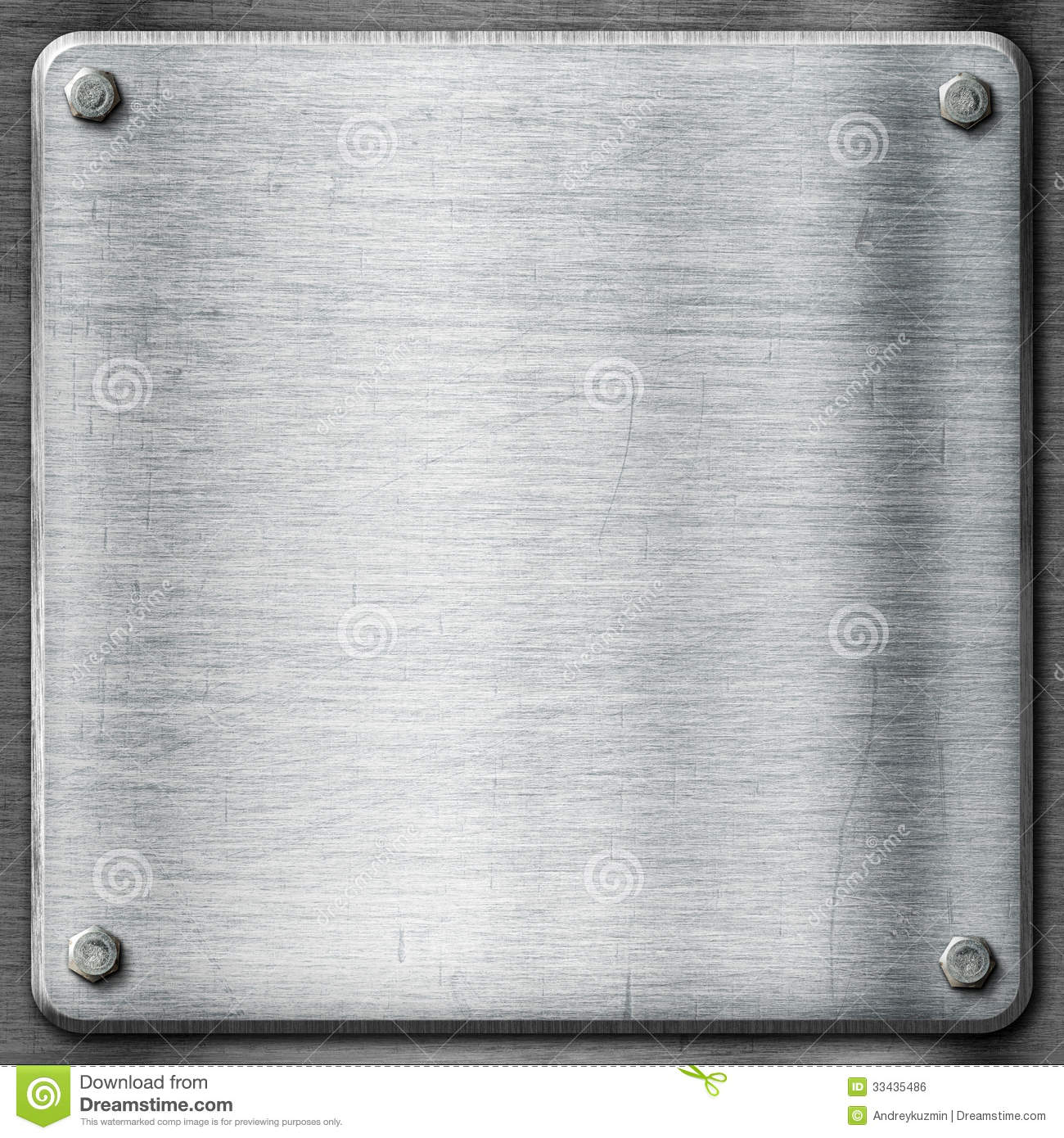 Metal Texture Template Background Steel Plate Stock