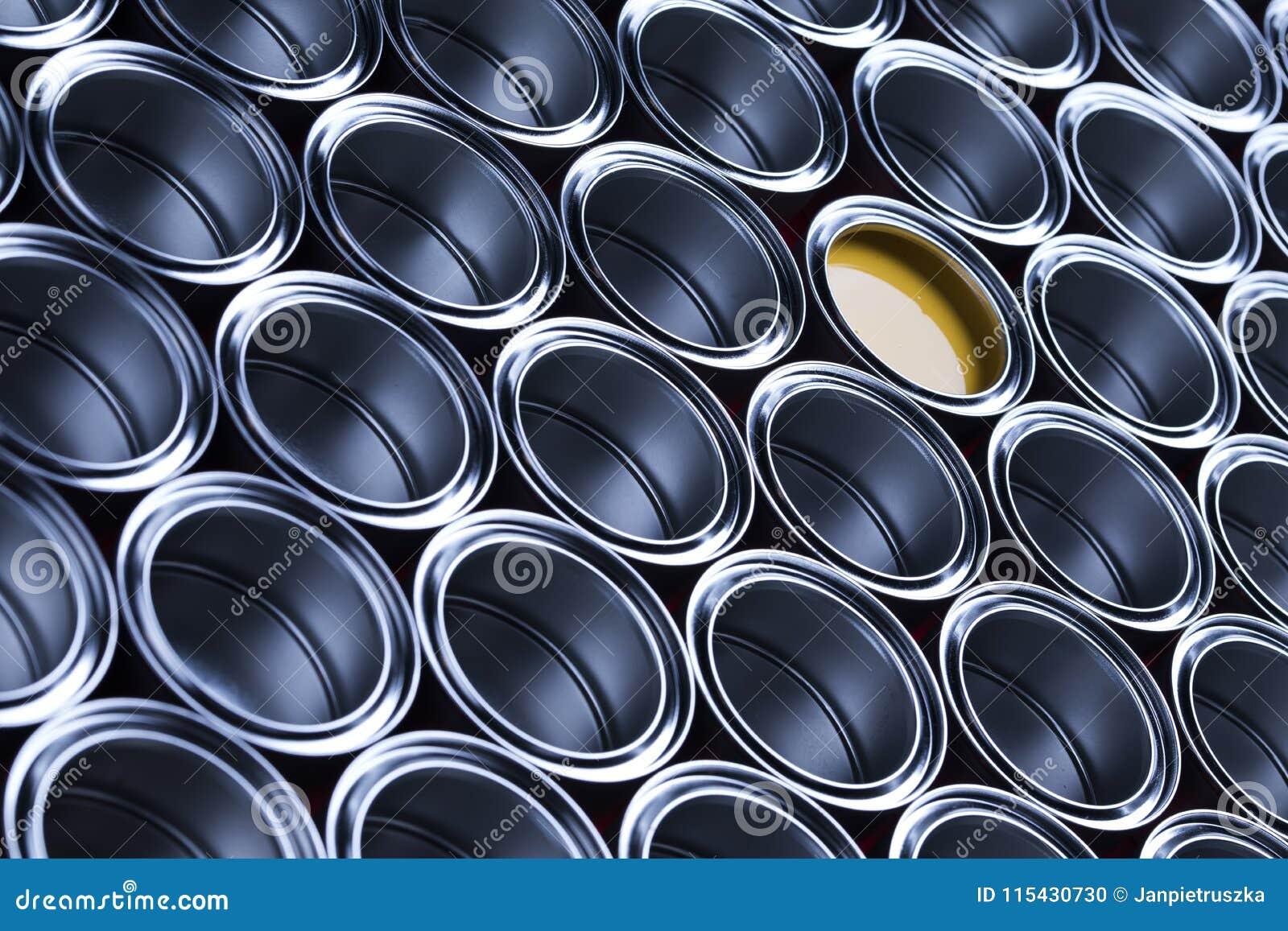Metal tin paint cans