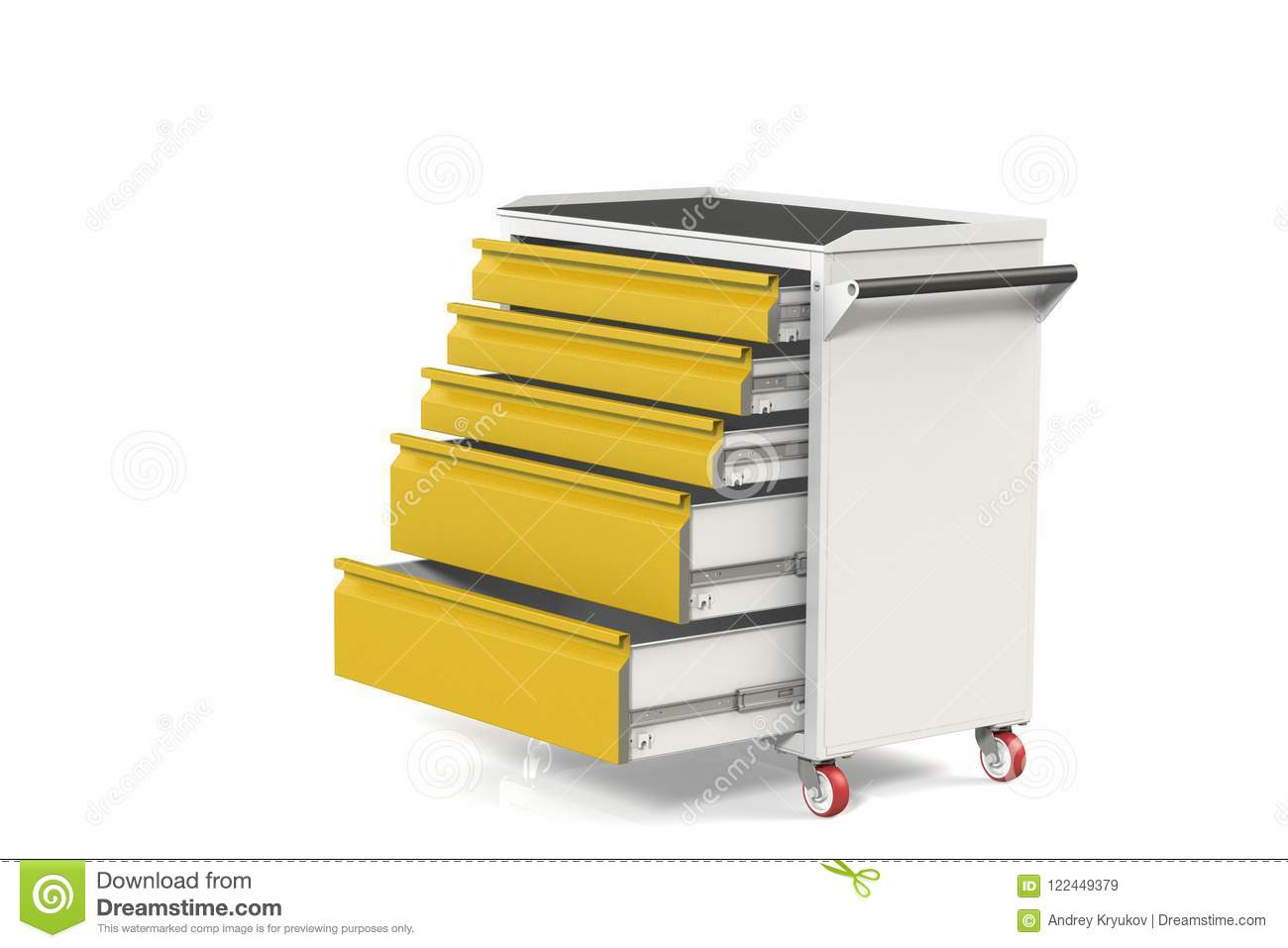 Metal Tool Cabinet On Wheels With Drawers A Convenient Place For