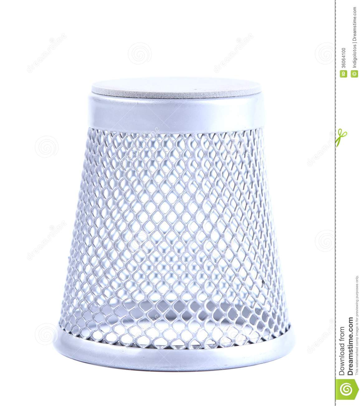 Metal Trash Can Upside Down Stock Photo Image 36064100