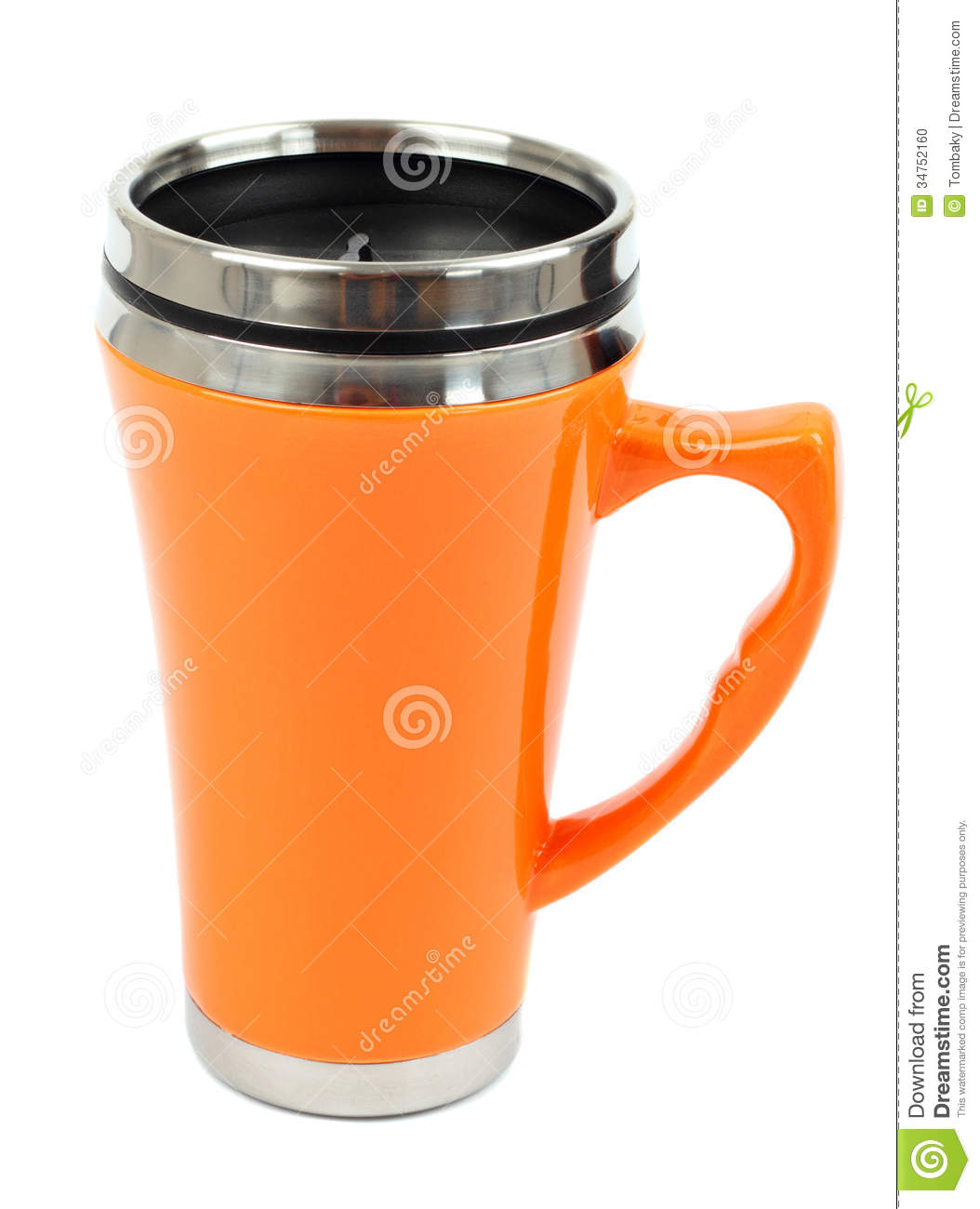 Metal Travel Thermo Cup Stock Photo Image Of Protection