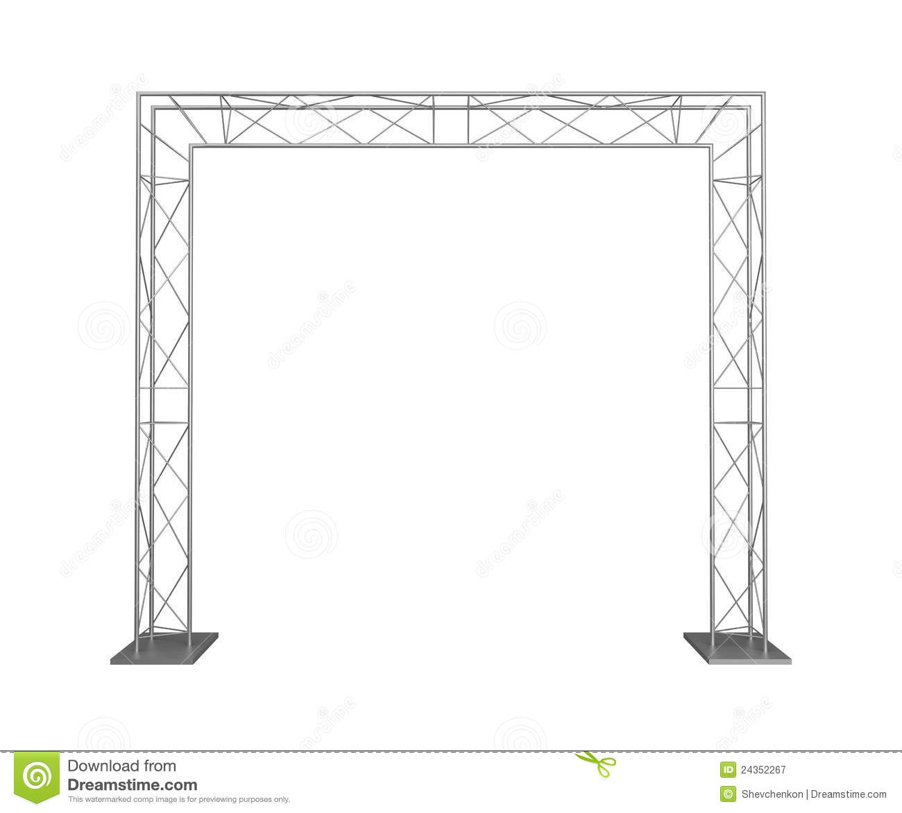 Metal Trusses Royalty Free Stock Photography Image 24352267