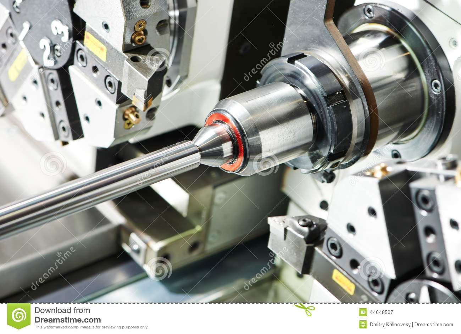 Metal Turning Process On Machine Tool Stock Photo - Image: 44648507