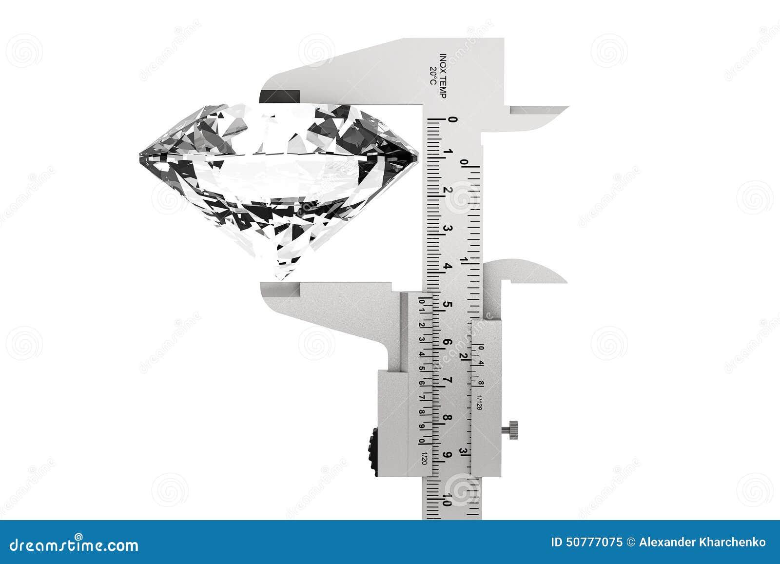 Metal Vernier Caliper With Diamond Stock Image Of Accuracy Diagram