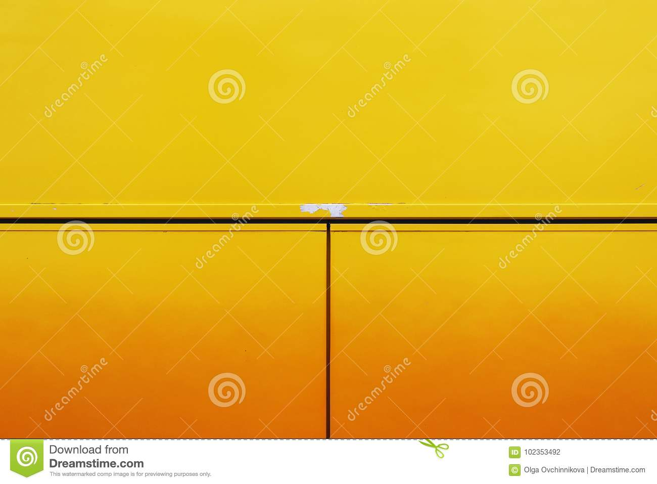 The Metal Wall Of The House, Trimmed With Colorful Panels, Painted ...