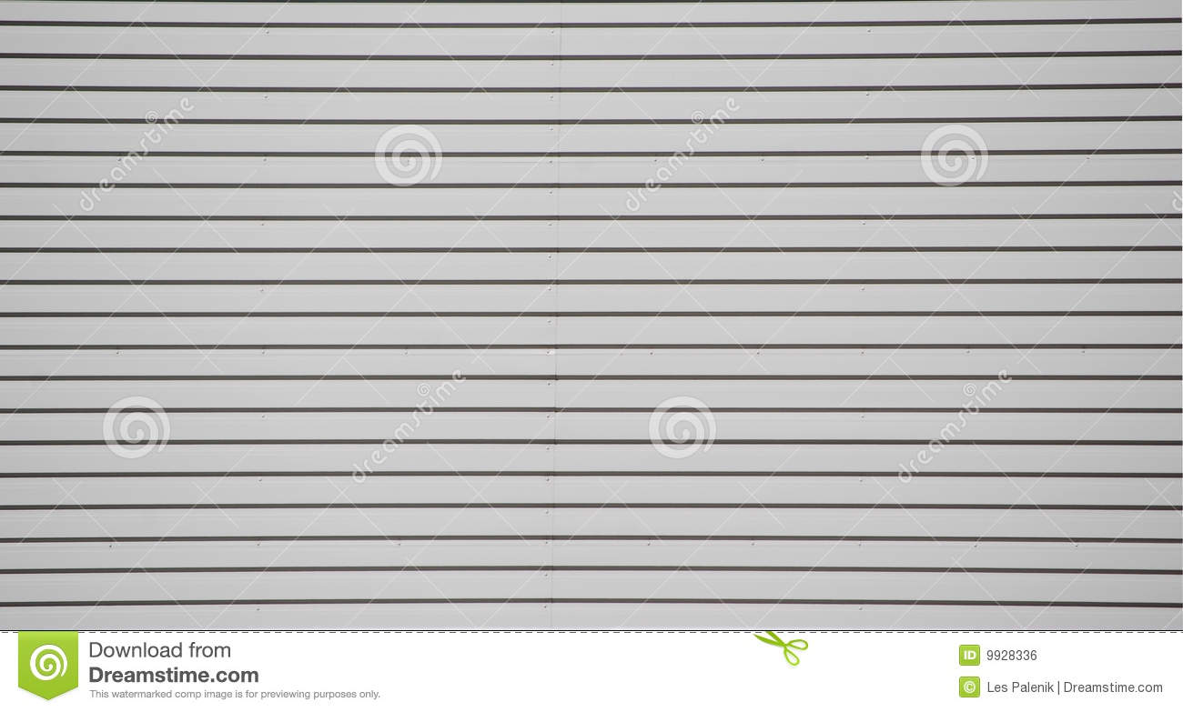 Metal Wall Siding Pattern Stock Photo Image 9928336