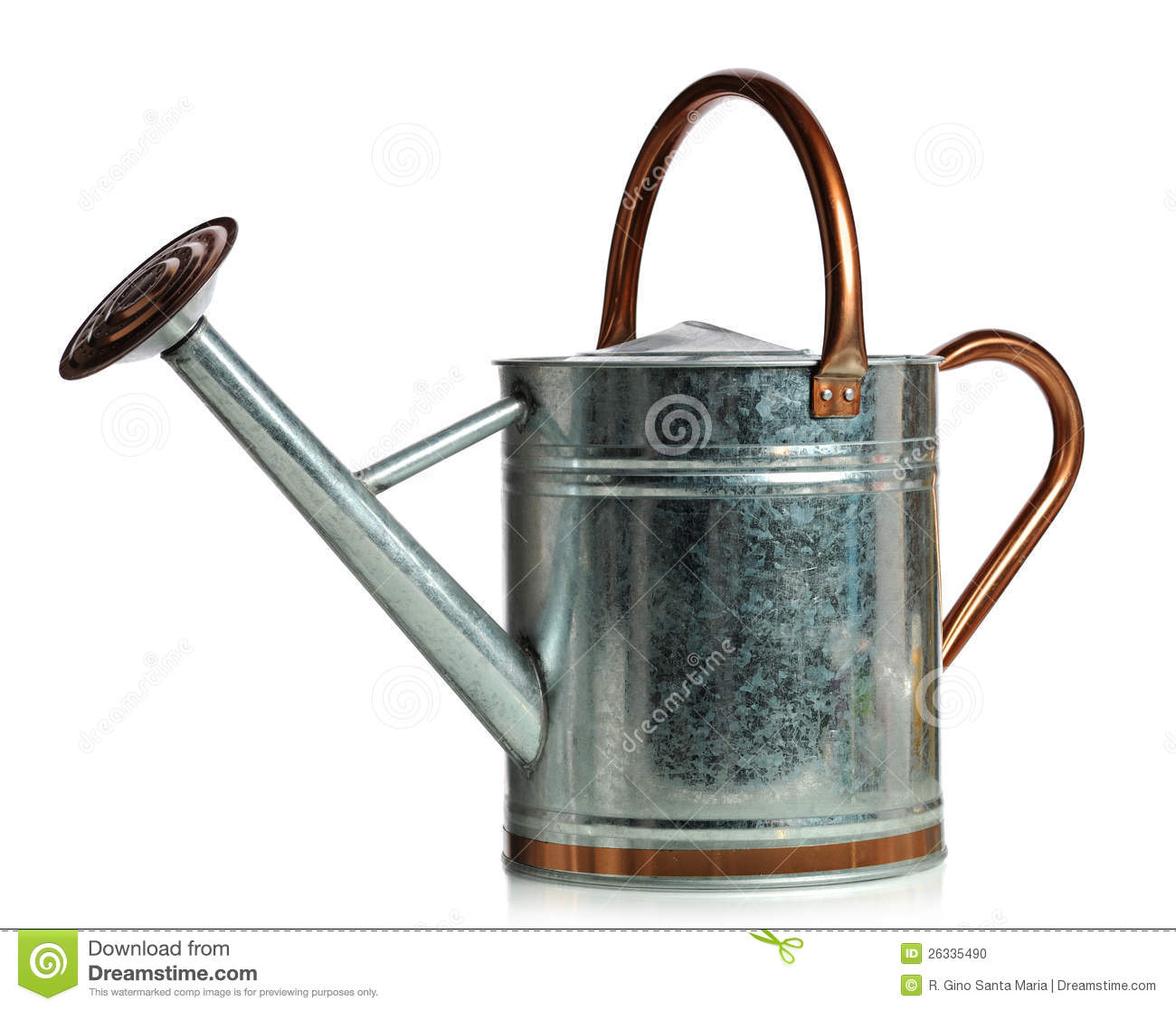 Soil Bag Clipart Metal watering can iso...