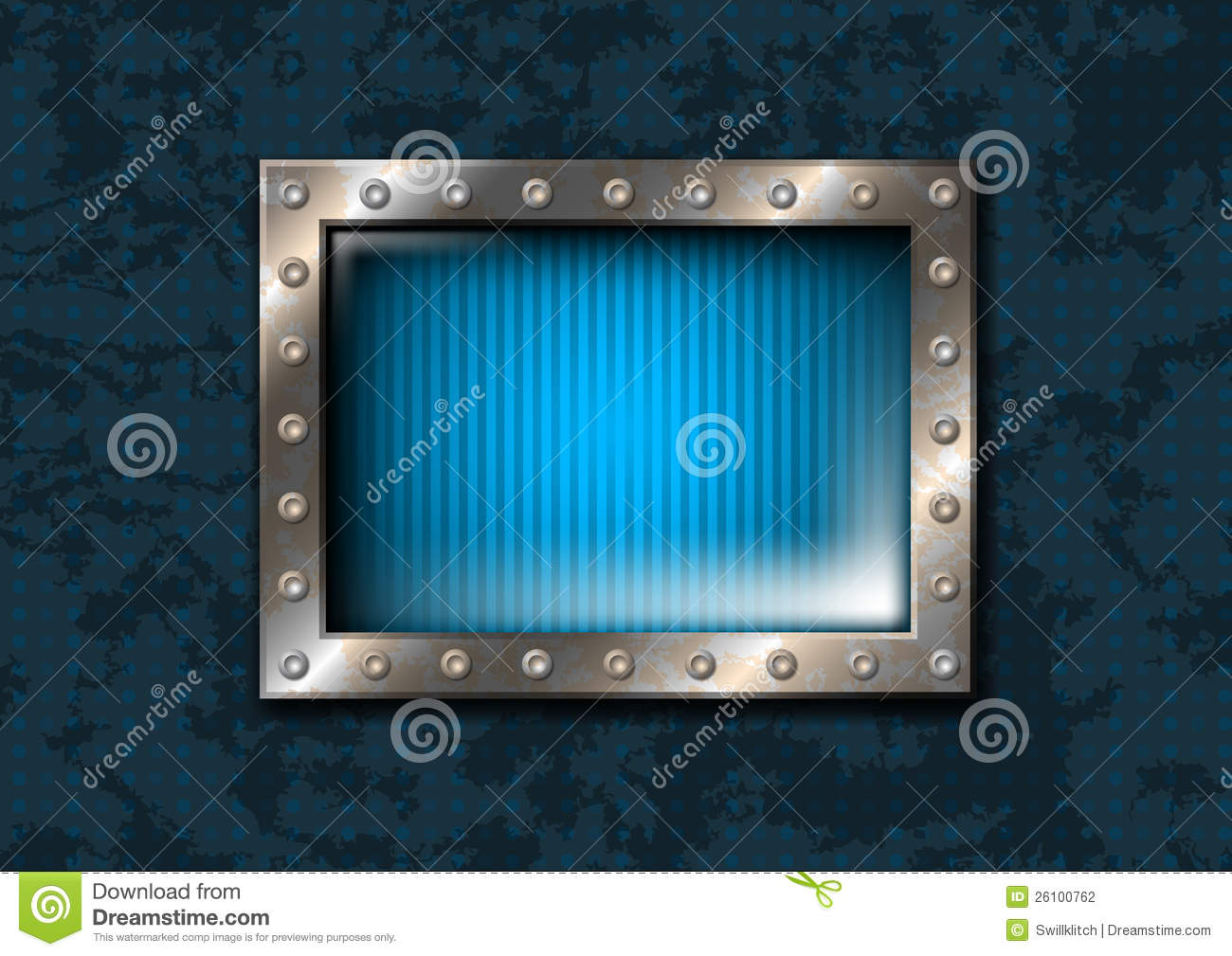 Rectangular Window Frame Blue rectangular window with