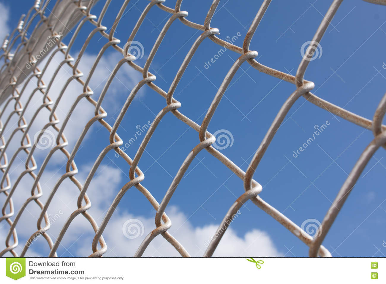 Metal wire fence stock image. Image of abstract, freedom - 66315711