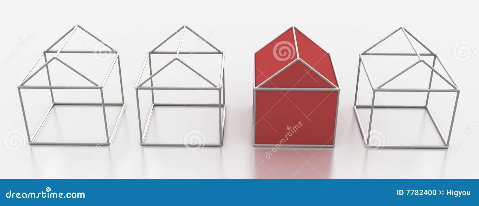 Metal Wire Houses stock illustration. Illustration of fake - 7782400