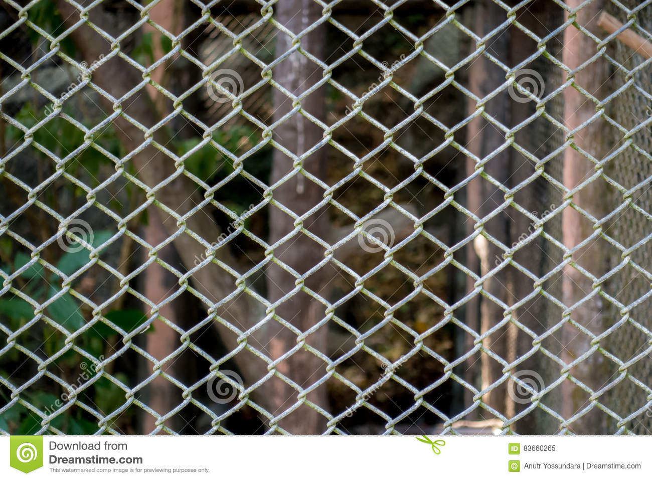Metal Wired Fence Boundary Cage Texture Stock Image Of Buildings