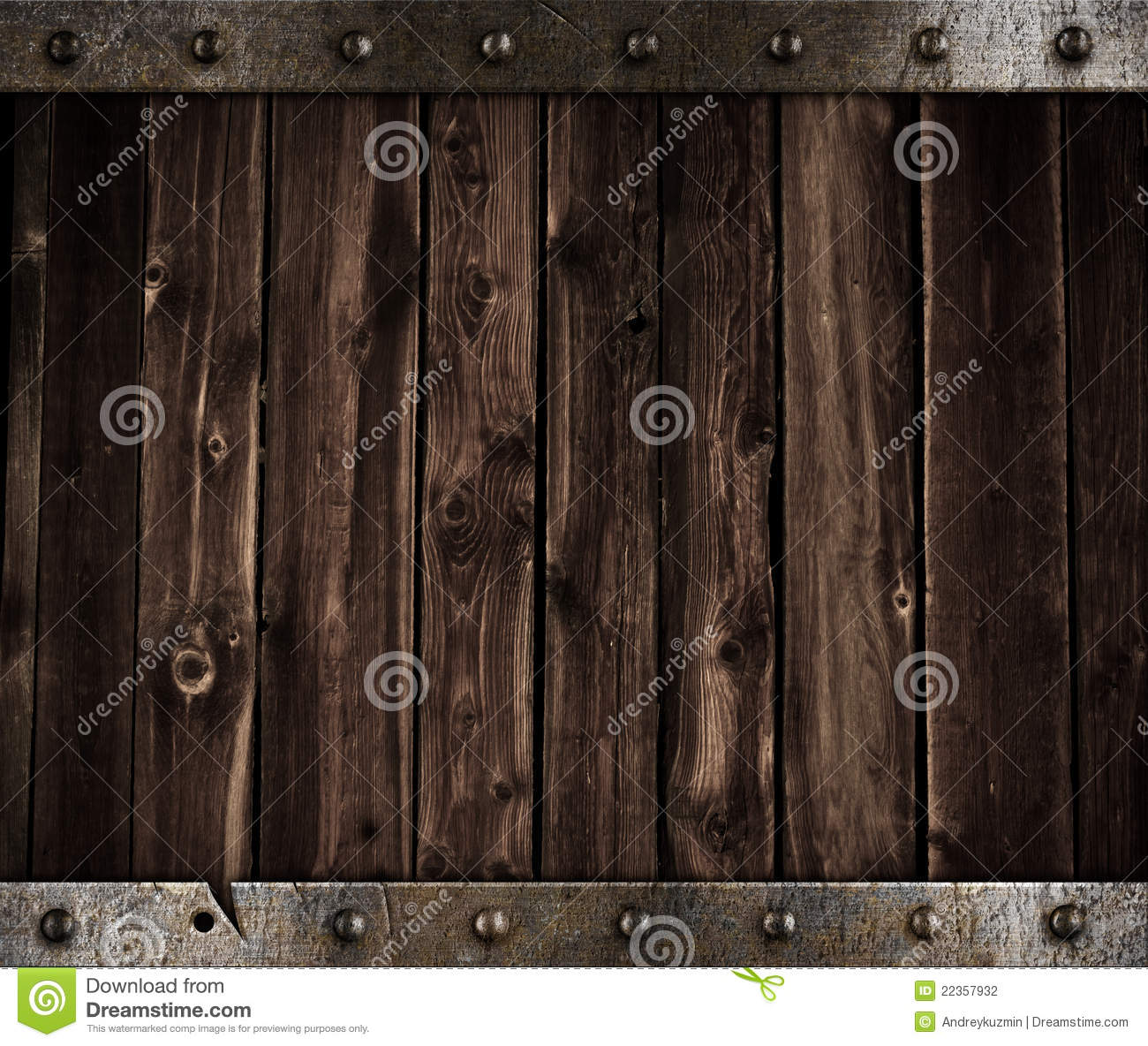 Metal and wooden medieval background