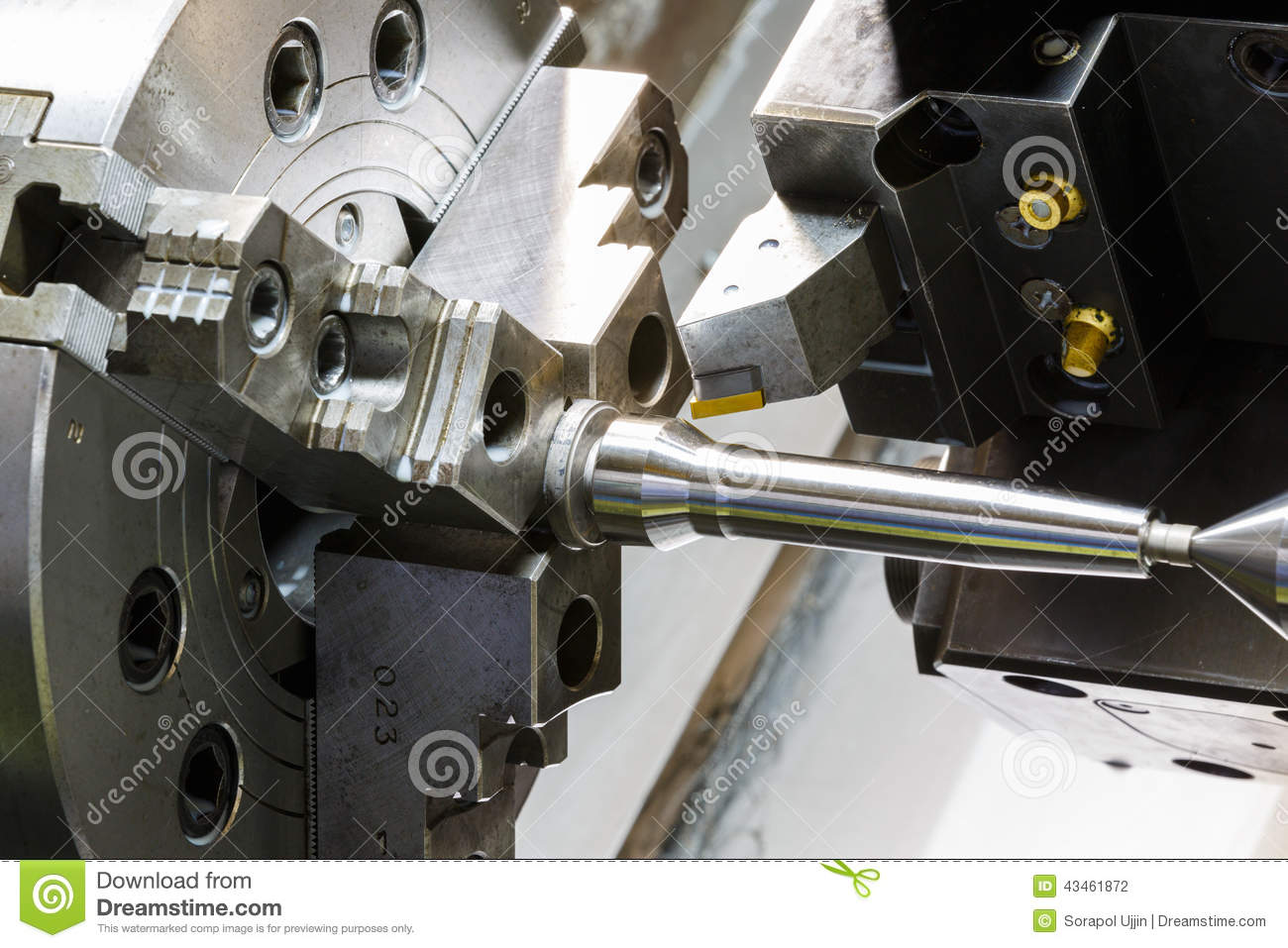 ... Process By Cutting Tool On CNC L Stock Photo - Image: 43461872