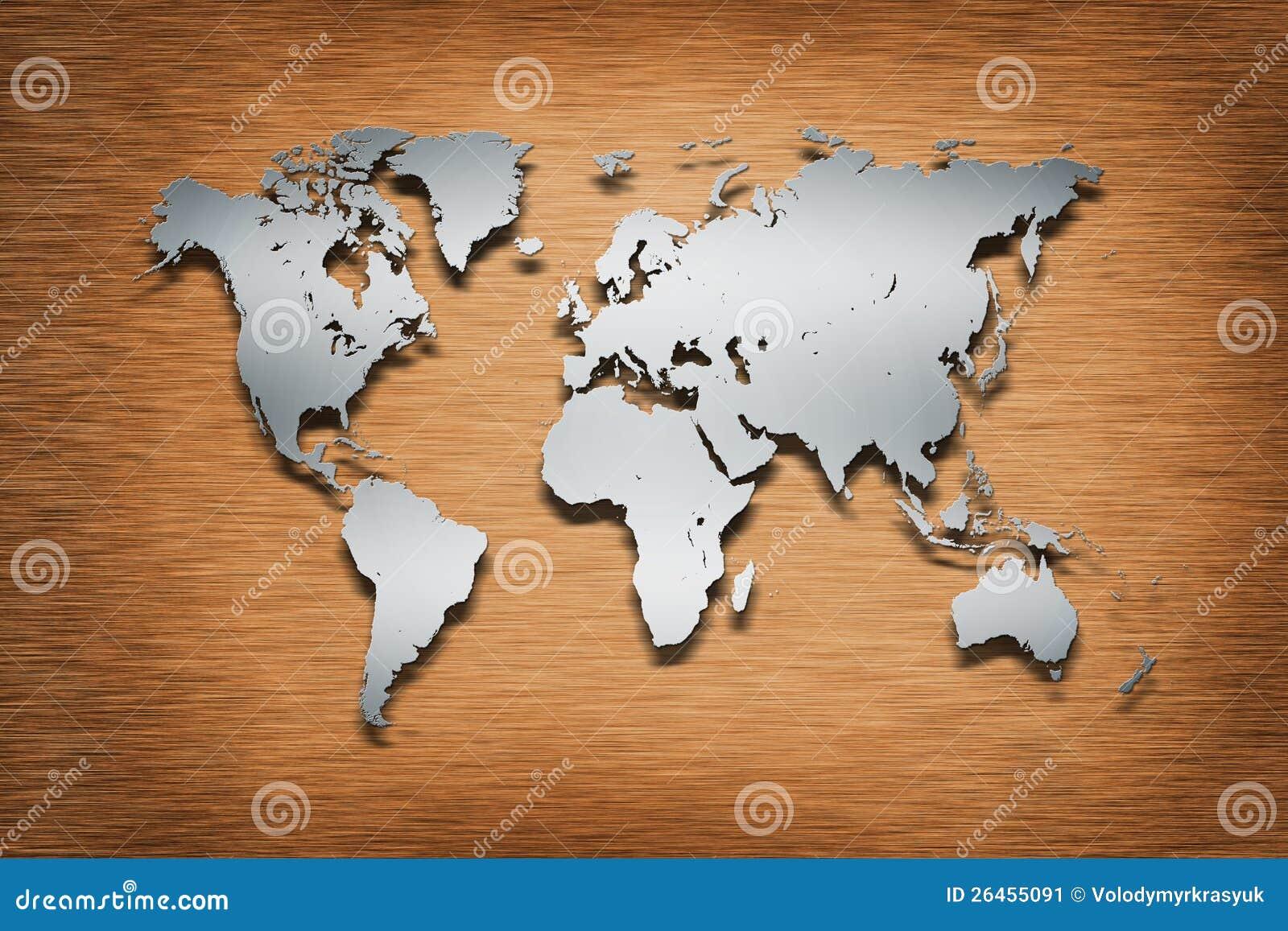 Metal world map on wood stock illustration illustration of graphic metal world map on wood gumiabroncs Gallery