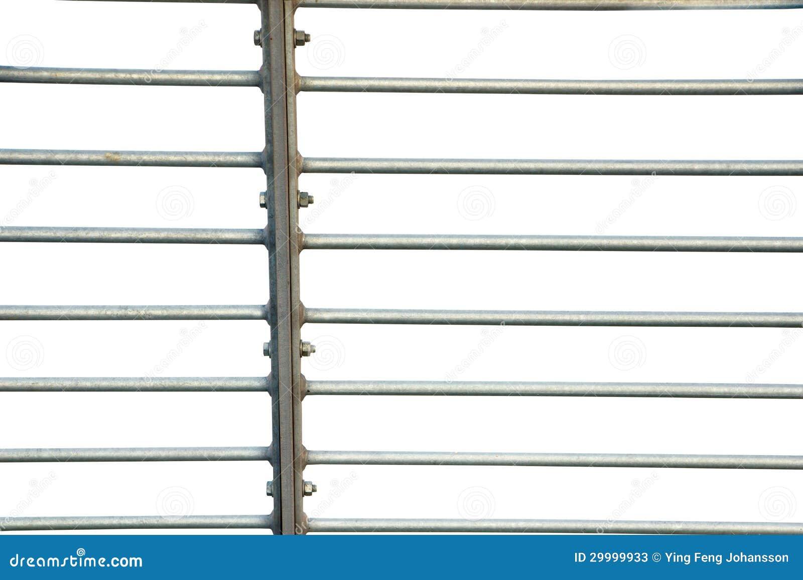 Metallzaun Auf Weiss Stockbild Bild Von Weiss Zaun Getrennt 29999933