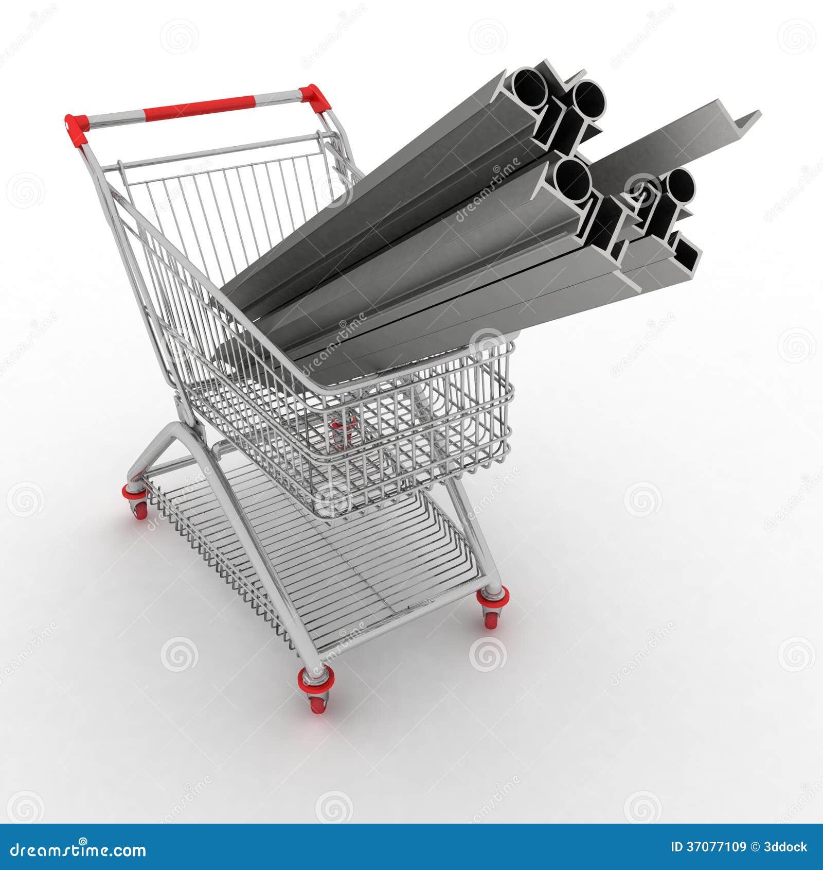 Download Metali Profile W Twój Wózek Na Zakupy Ilustracji - Ilustracja złożonej z okrąg, chrom: 37077109