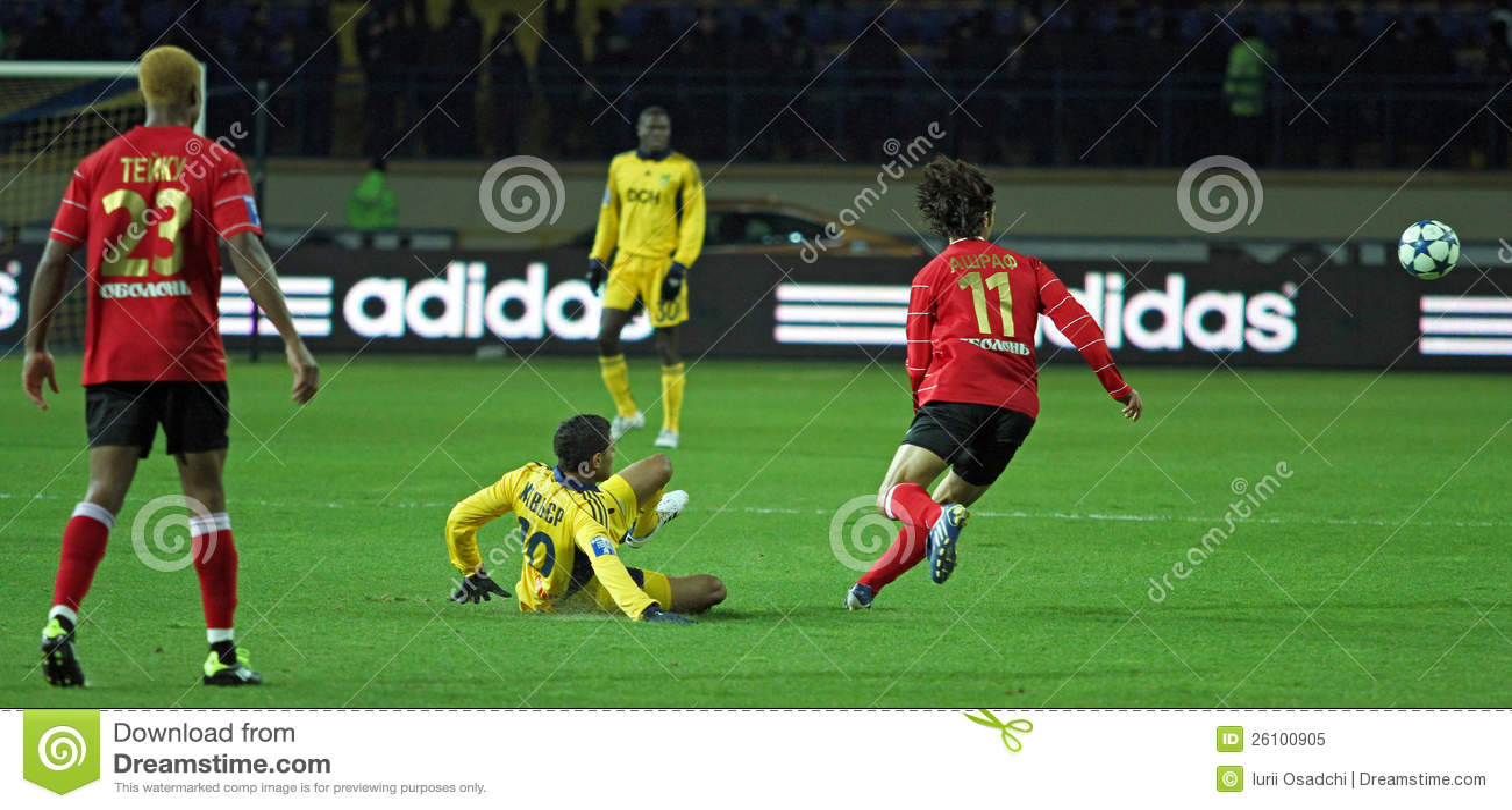 Metalist与Metalurh Zaporizhya足球比赛