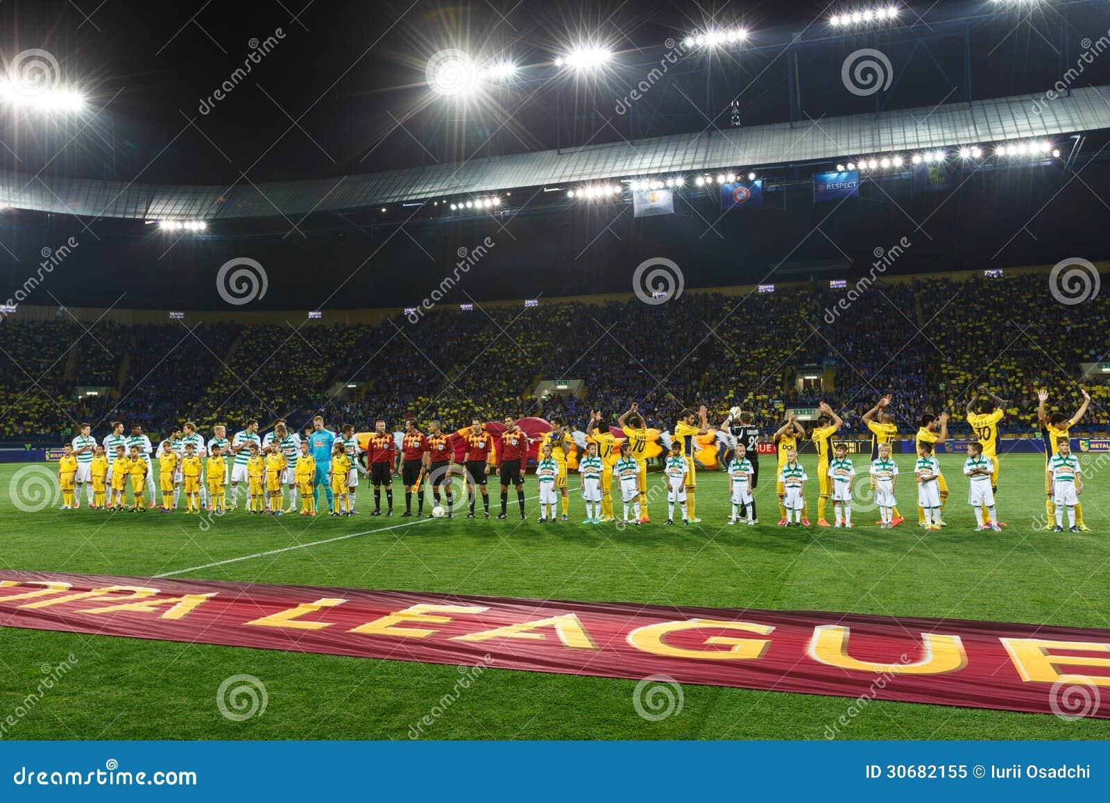 Metalist Kharkiv versus Snelle Wien-voetbalwedstrijd