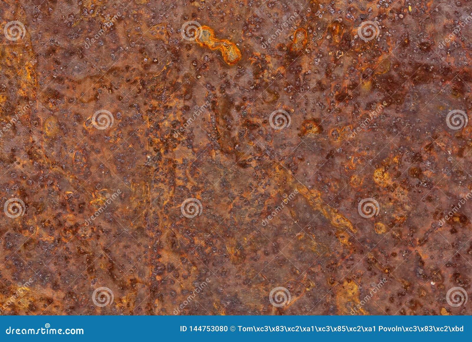 Metallarket korroderade rostig oxiderad viktig textur för bakgrund