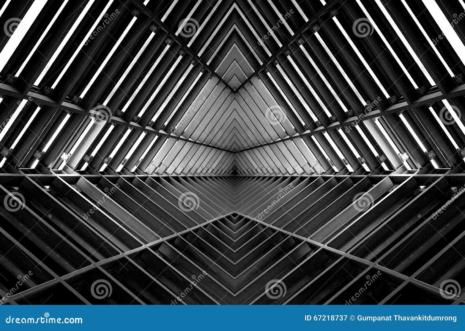 Metallbau ähnlich Raumschiffinnenraum In Schwarzweiss Stockbild ...