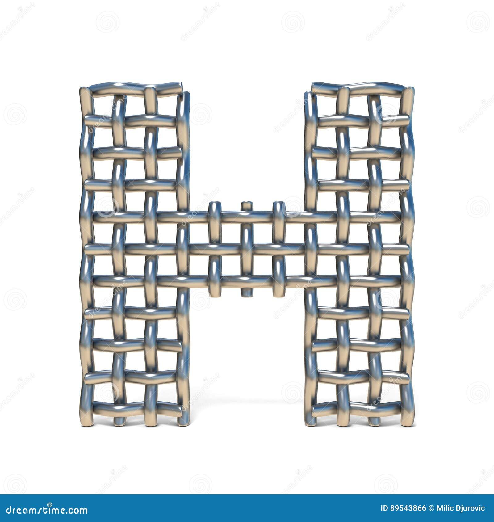 Metalldraht-Maschenguß BUCHSTABE H 3D Stock Abbildung - Illustration ...