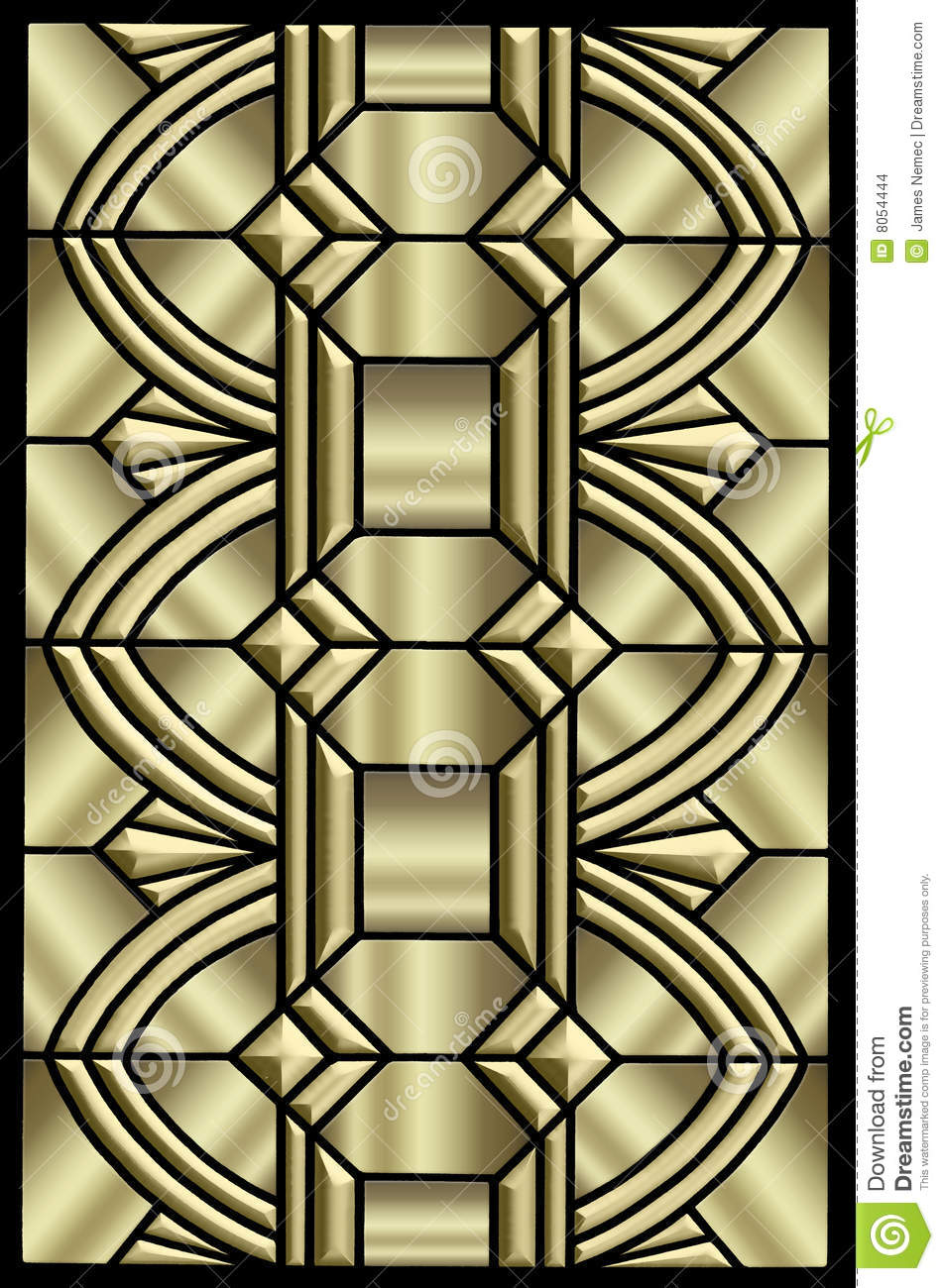 Metallic Art Deco Design Stock Images Image 8054444
