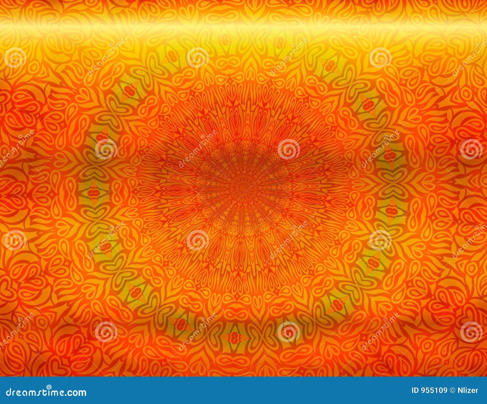 Metallic Batik Background Wallpaper Stock Illustration