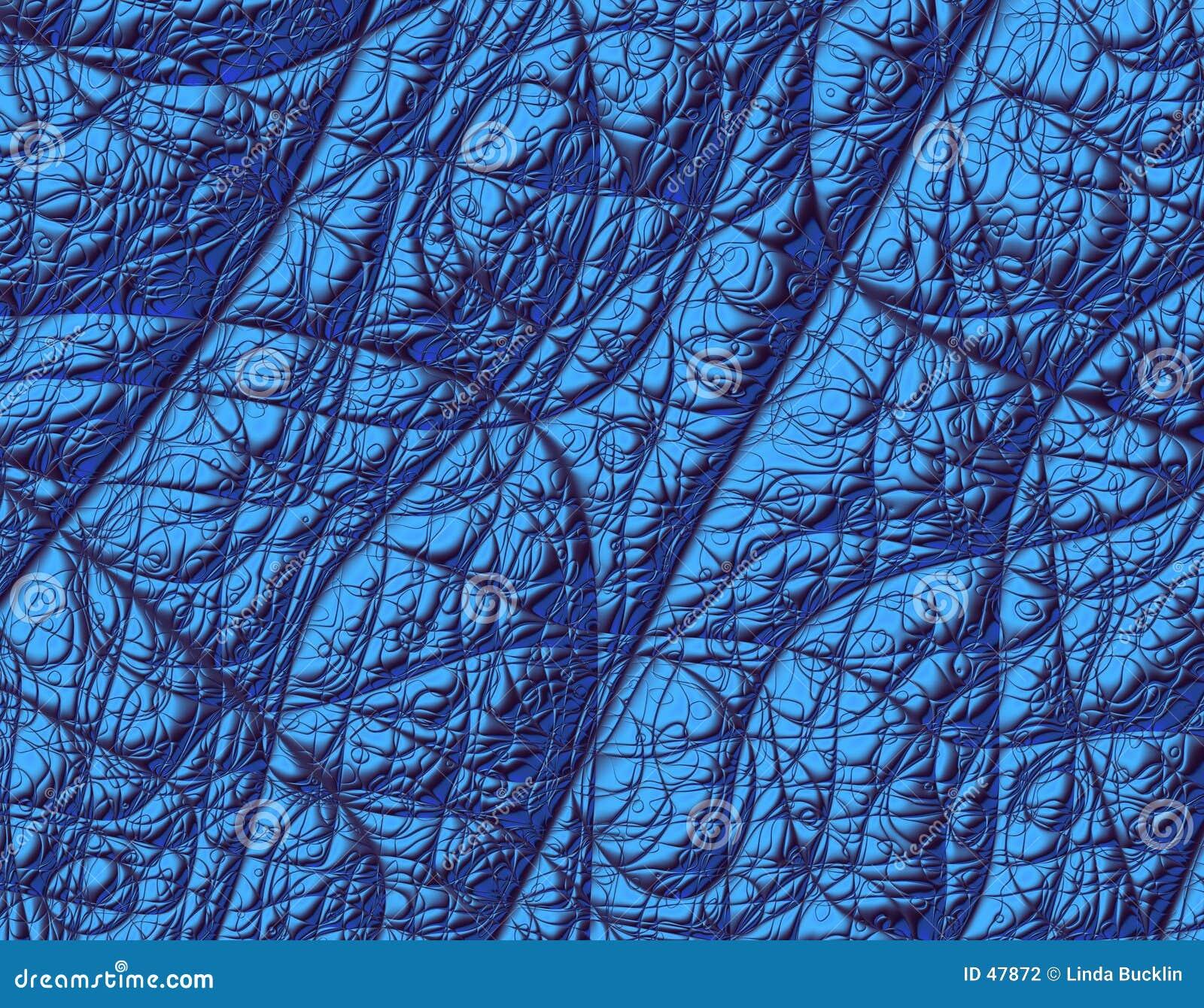 Metallic Blue Fractal Texture
