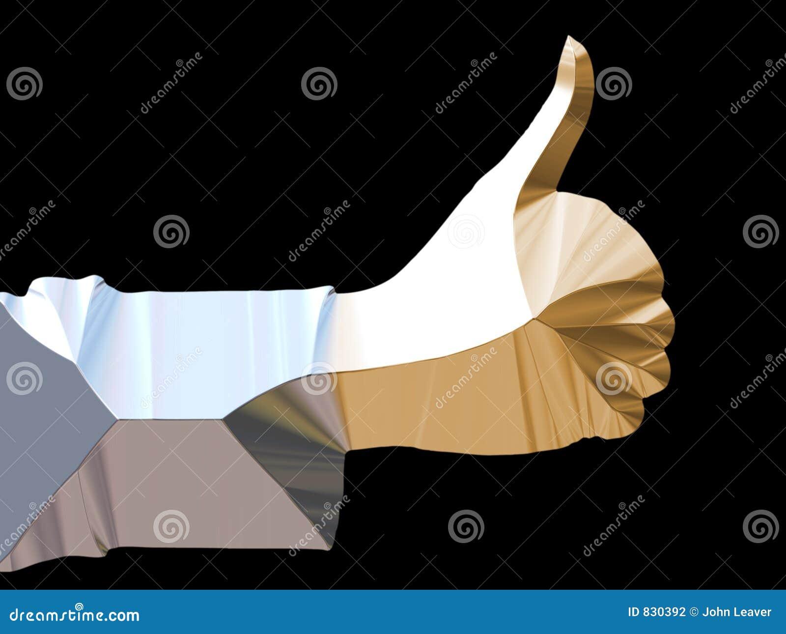 Metallic hand