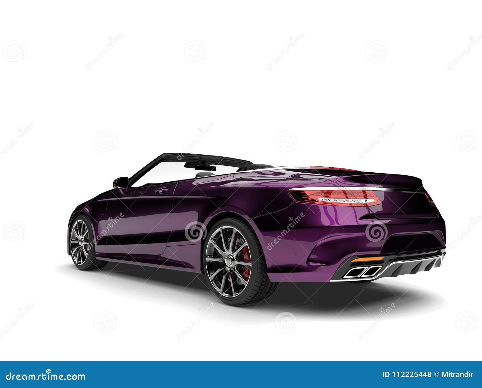 Metallic magenta modern luxury convertible car