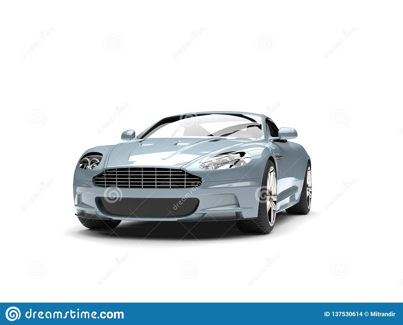 Metallic Pastel Blue Modern Sports Luxury Car Stock Illustration Illustration Of Expensive Power 137530614