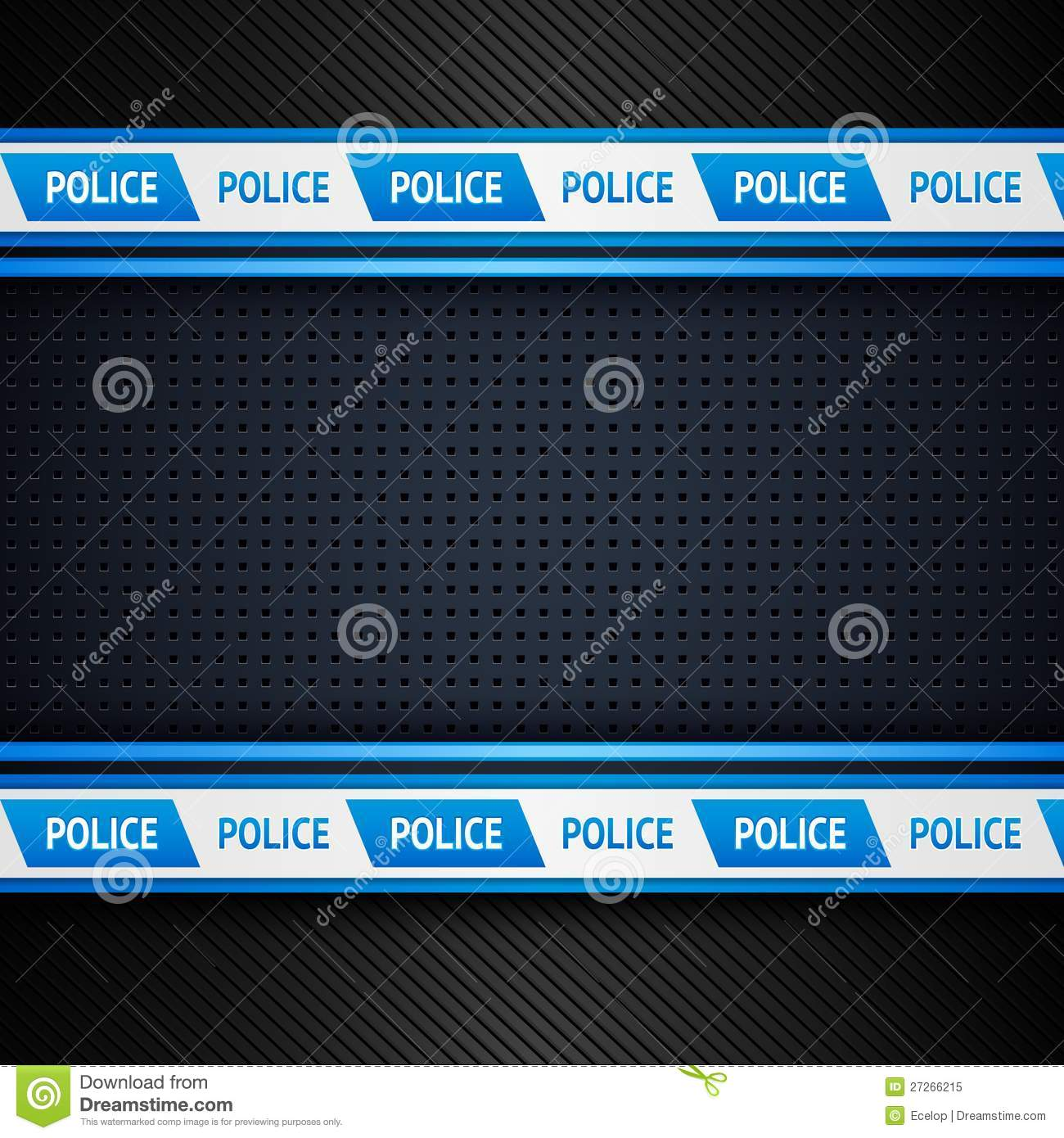 metallic perforated sheet  police background stock vector