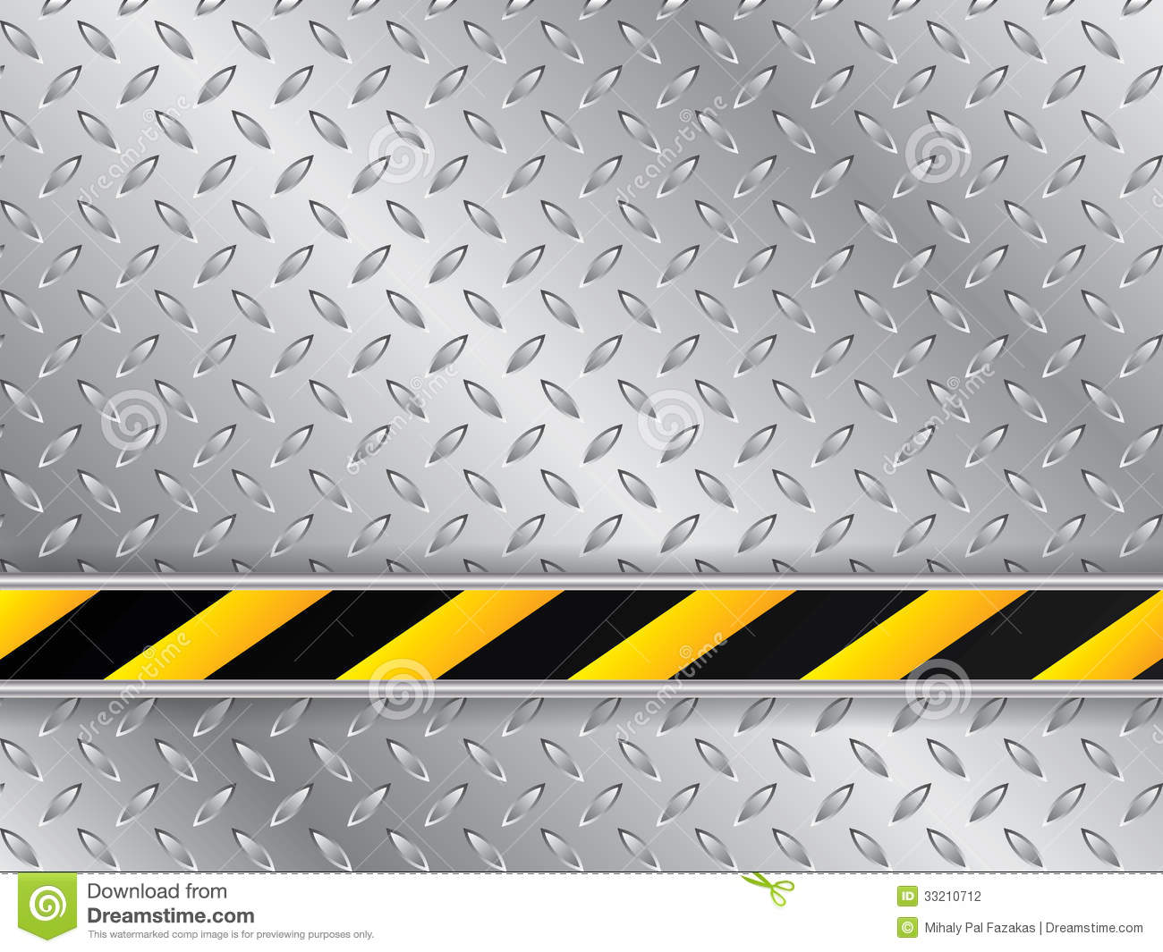 Metallic Plate Background With Striped Industrial Line