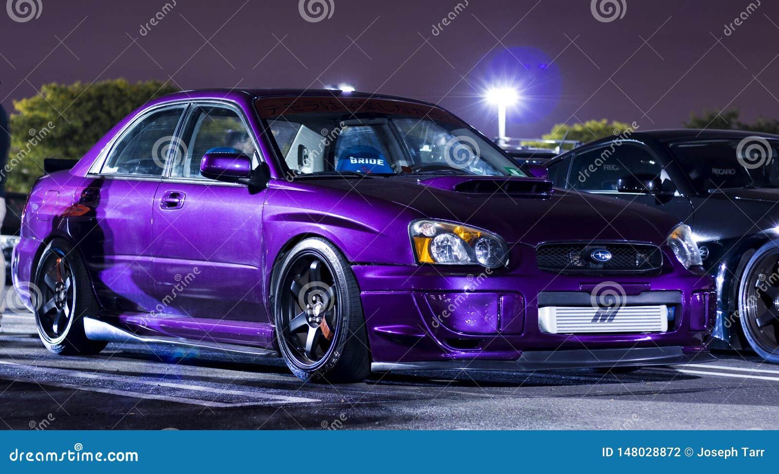 Metallic Purple Customized Subaru WRX STI