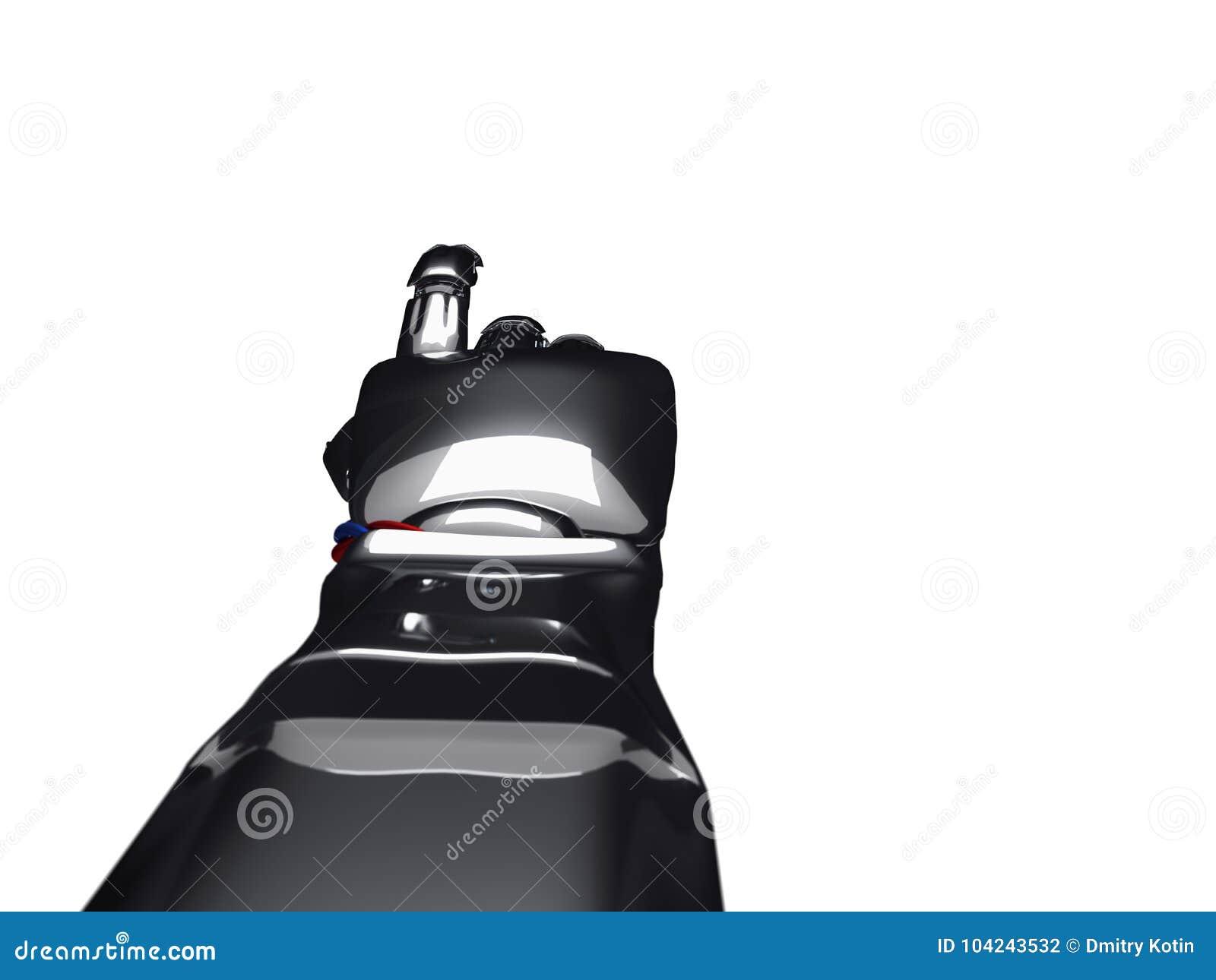Metallic Robot Hand  3d Rendering Stock Illustration