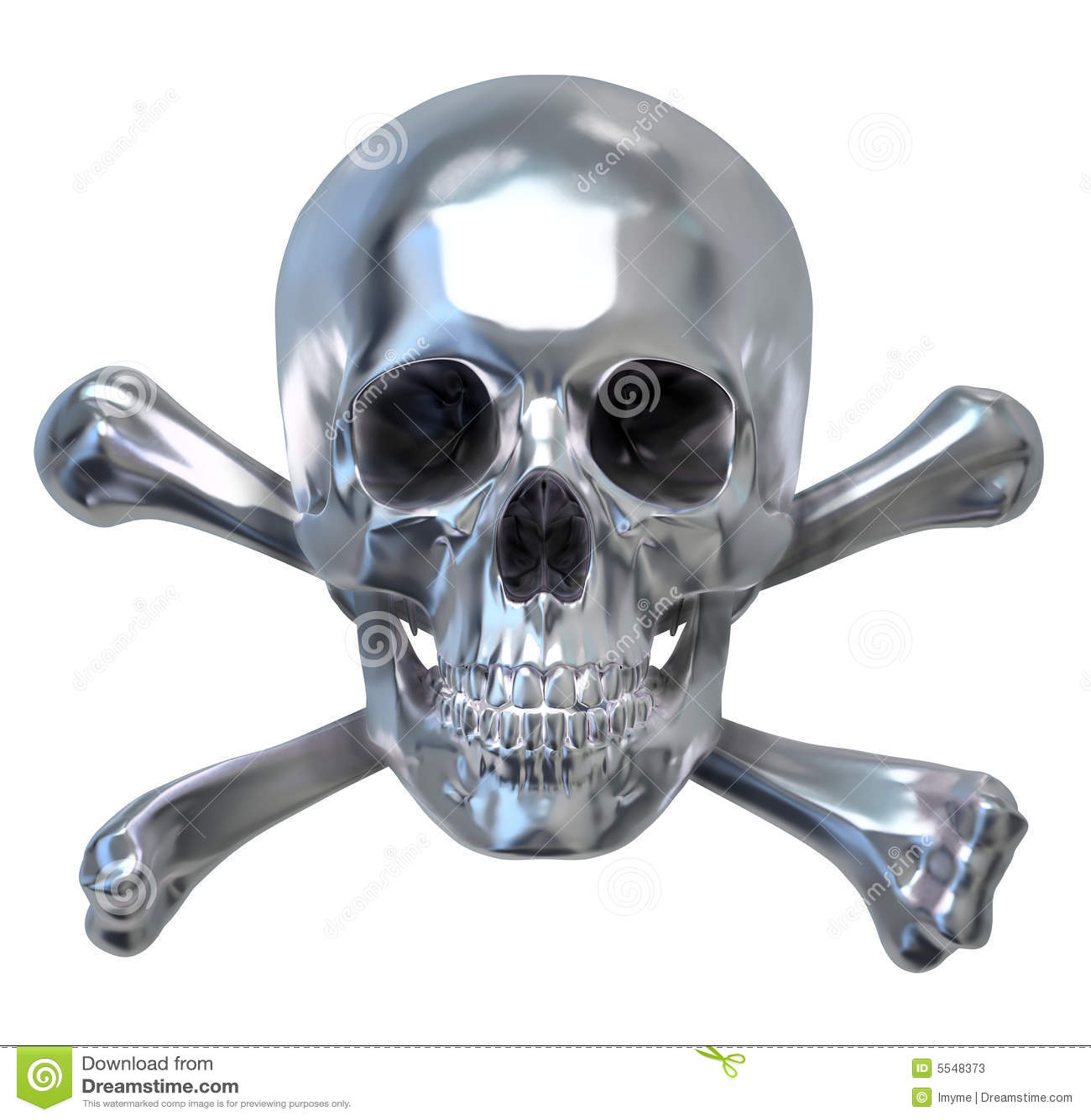 Metallic Skull Stock Illustration. Illustration Of Silver