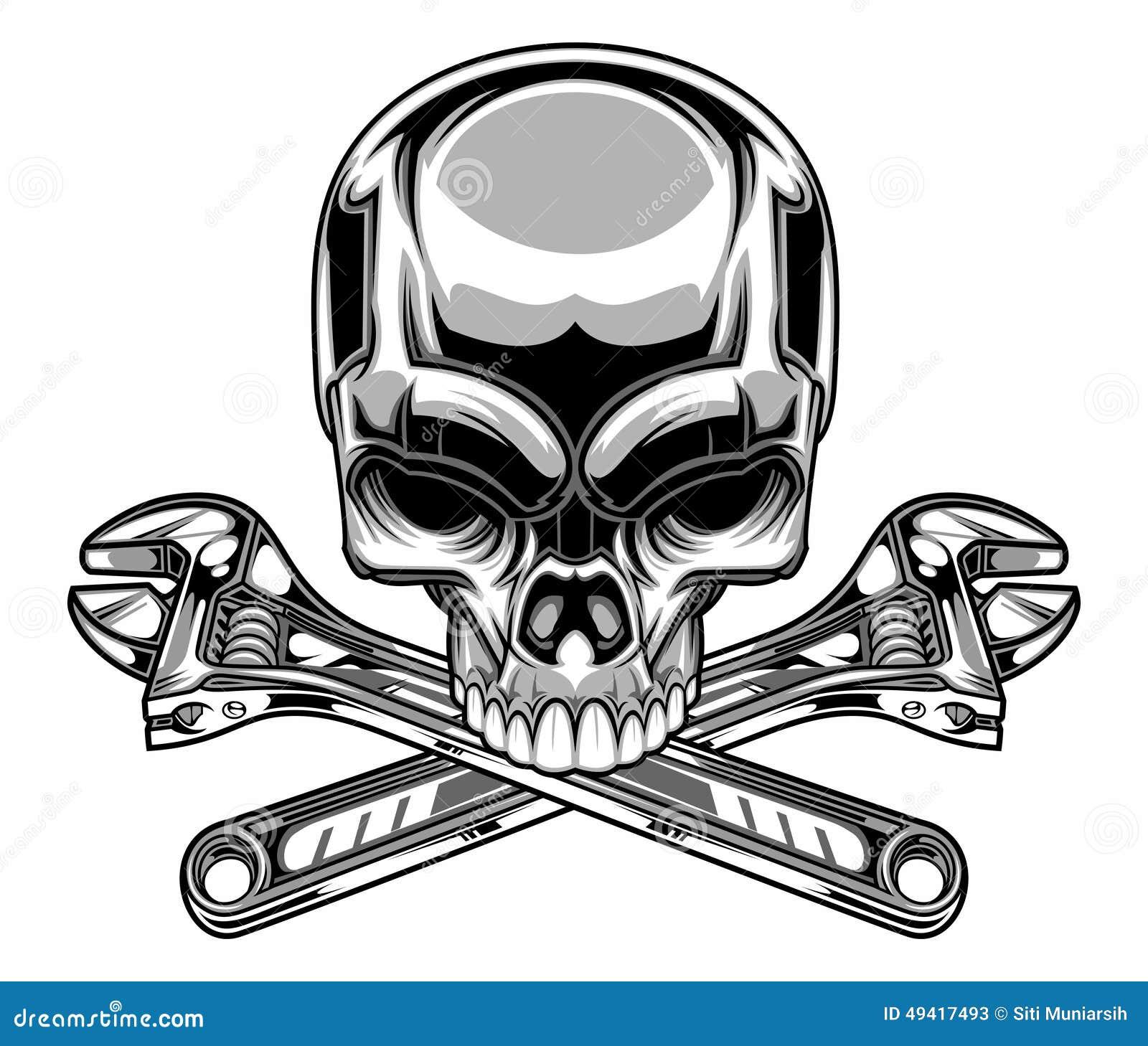 Metallic Skull Stock Illustration - Image: 49417493