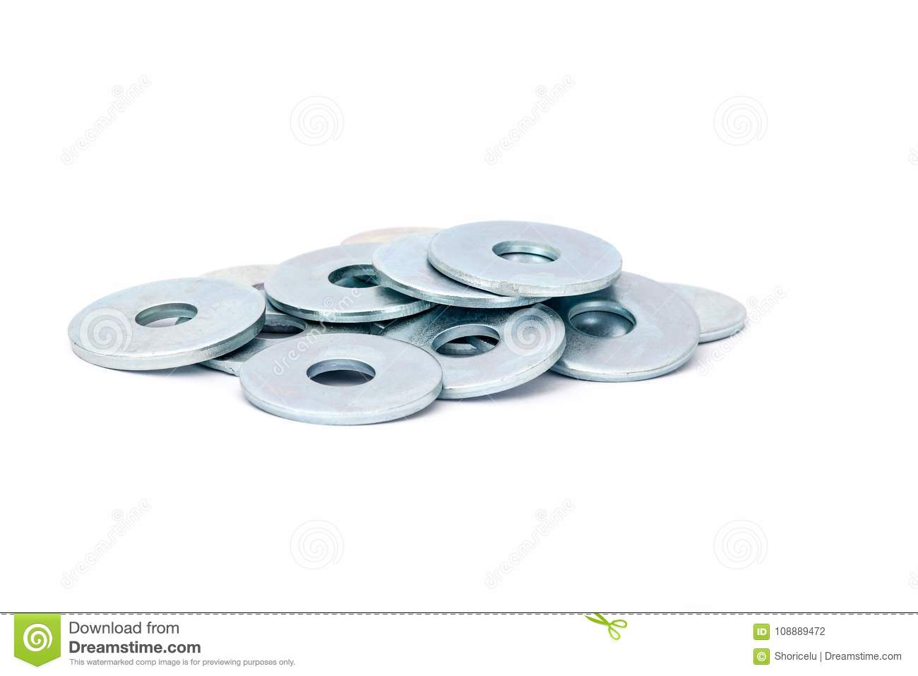 Metallic Stainless Steel Fender Washers Stock Photo Image Of