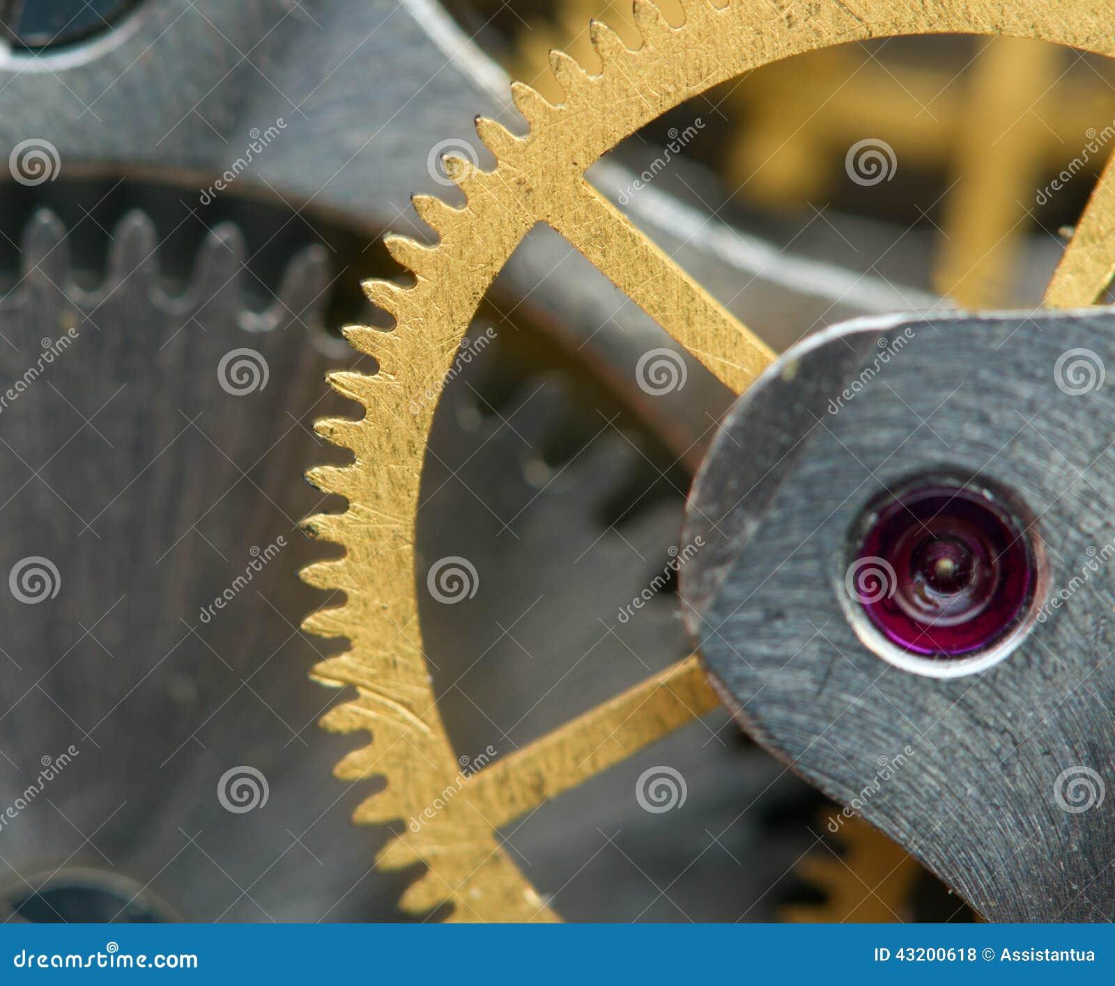 Download Metallisk Bakgrund Med Metallkugghjul Ett Urverk Arkivfoto - Bild av inom, mekanism: 43200618