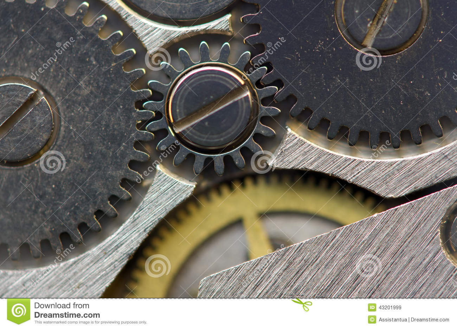 Download Metallisk Bakgrund Med Metallkugghjulurverk Makro Fotografering för Bildbyråer - Bild av delningar, föråldrat: 43201999