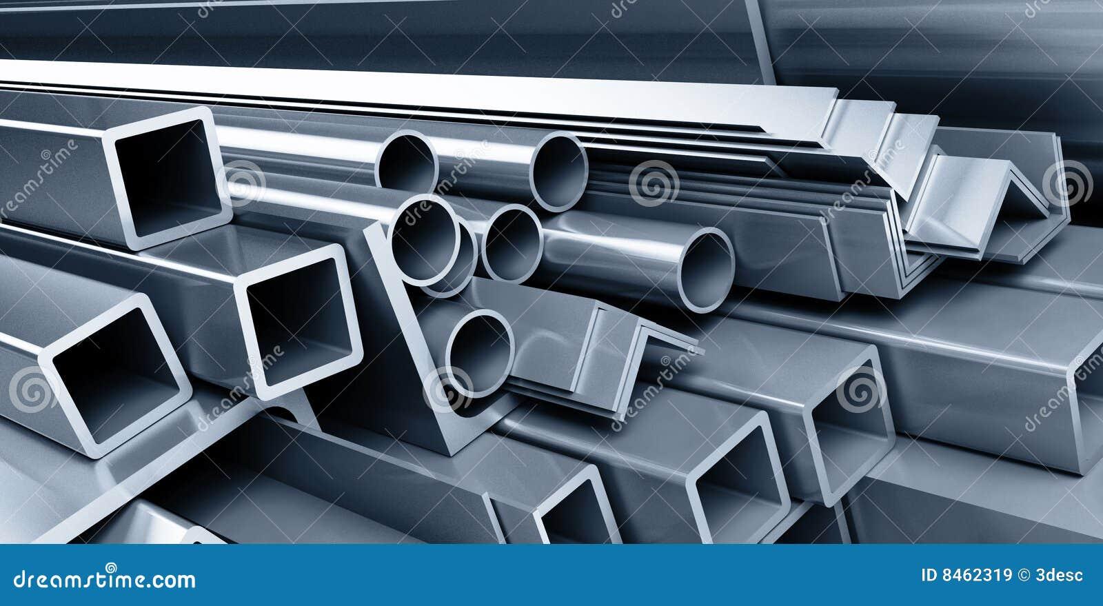 Metalliska rør för bakgrund
