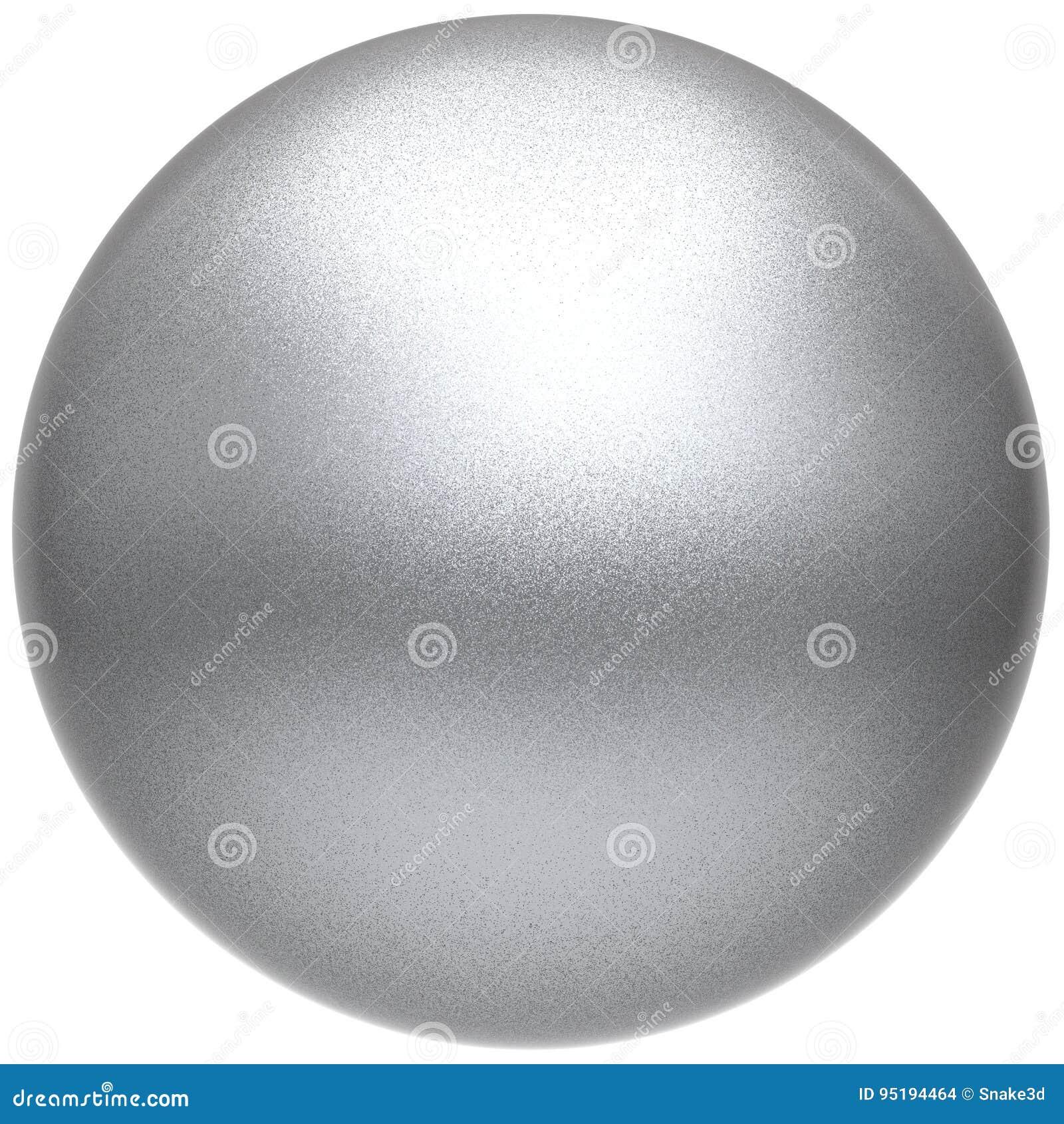 Metalliskt för vit boll för knapp för silversfärrunda grundläggande hopslingrat