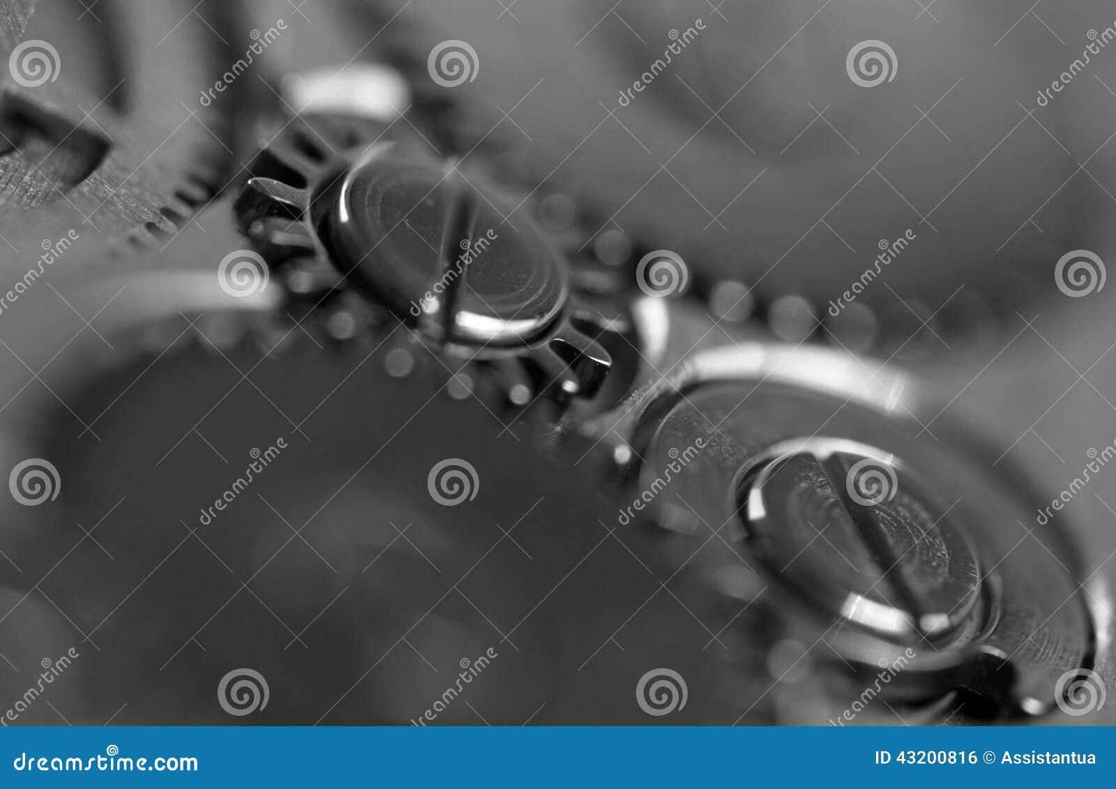 Download Metallkugghjulhjul Som är Svartvitt Makro Stock Illustrationer - Illustration av mover, långsamt: 43200816